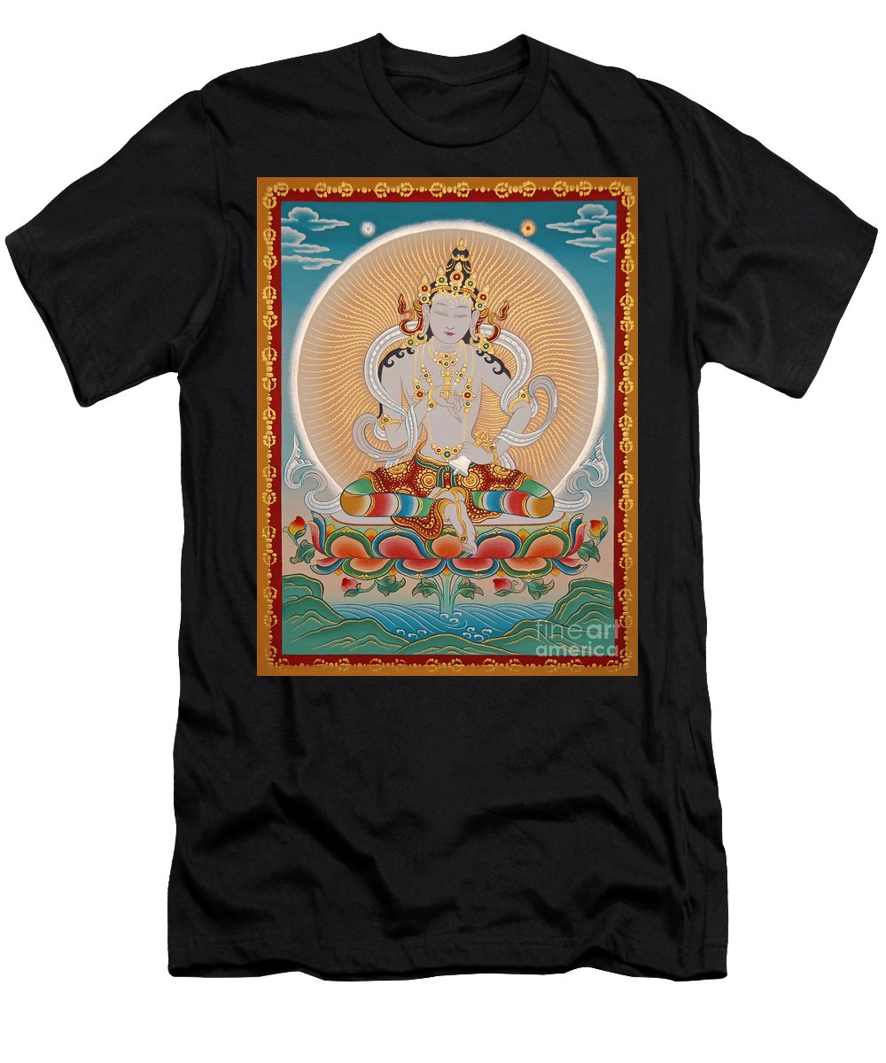Thangka Men's T-Shirt (Athletic Fit) featuring the painting Namcho Vajrasattva by Sergey Noskov