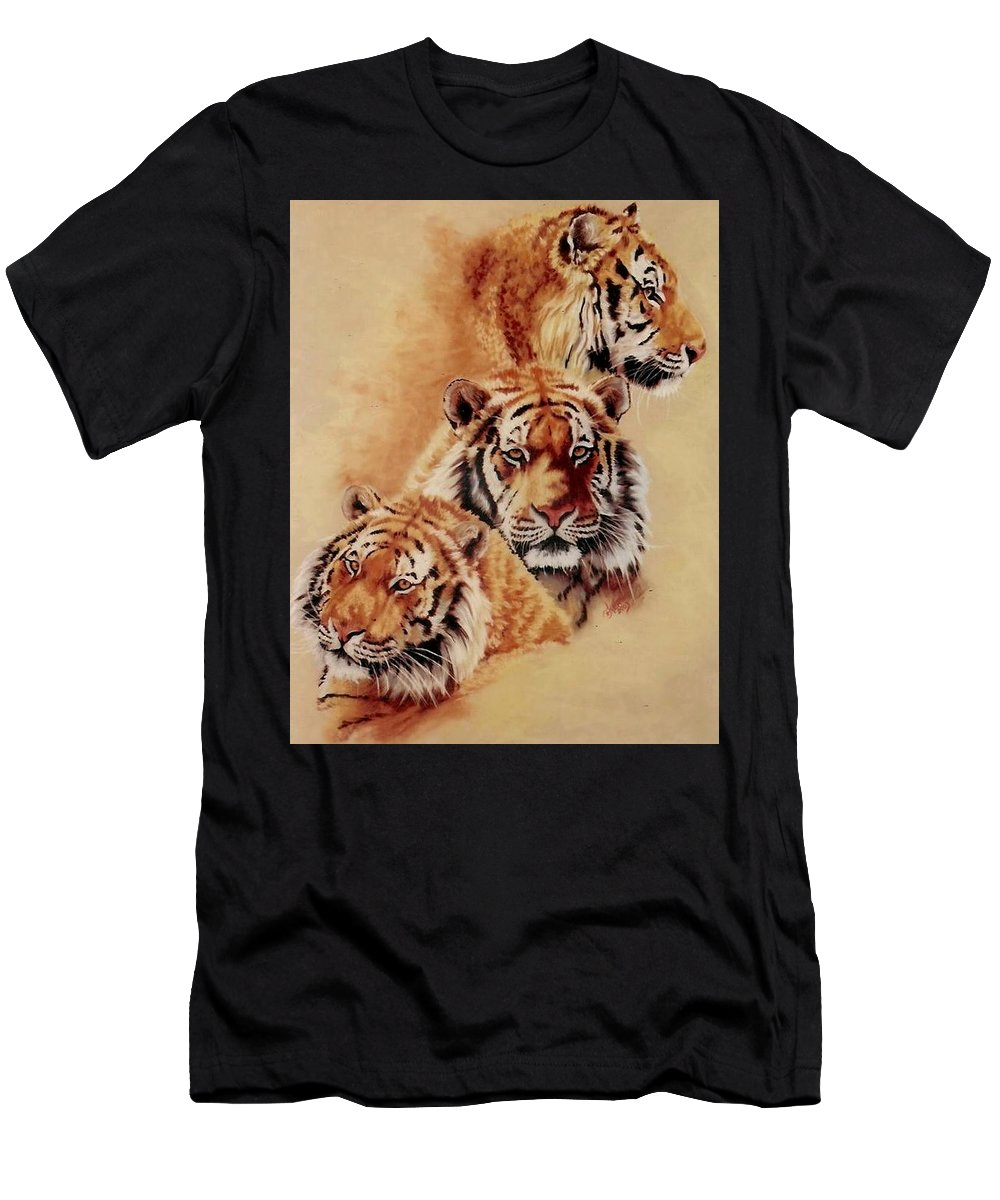 Tiger Men's T-Shirt (Athletic Fit) featuring the pastel Nanook by Barbara Keith