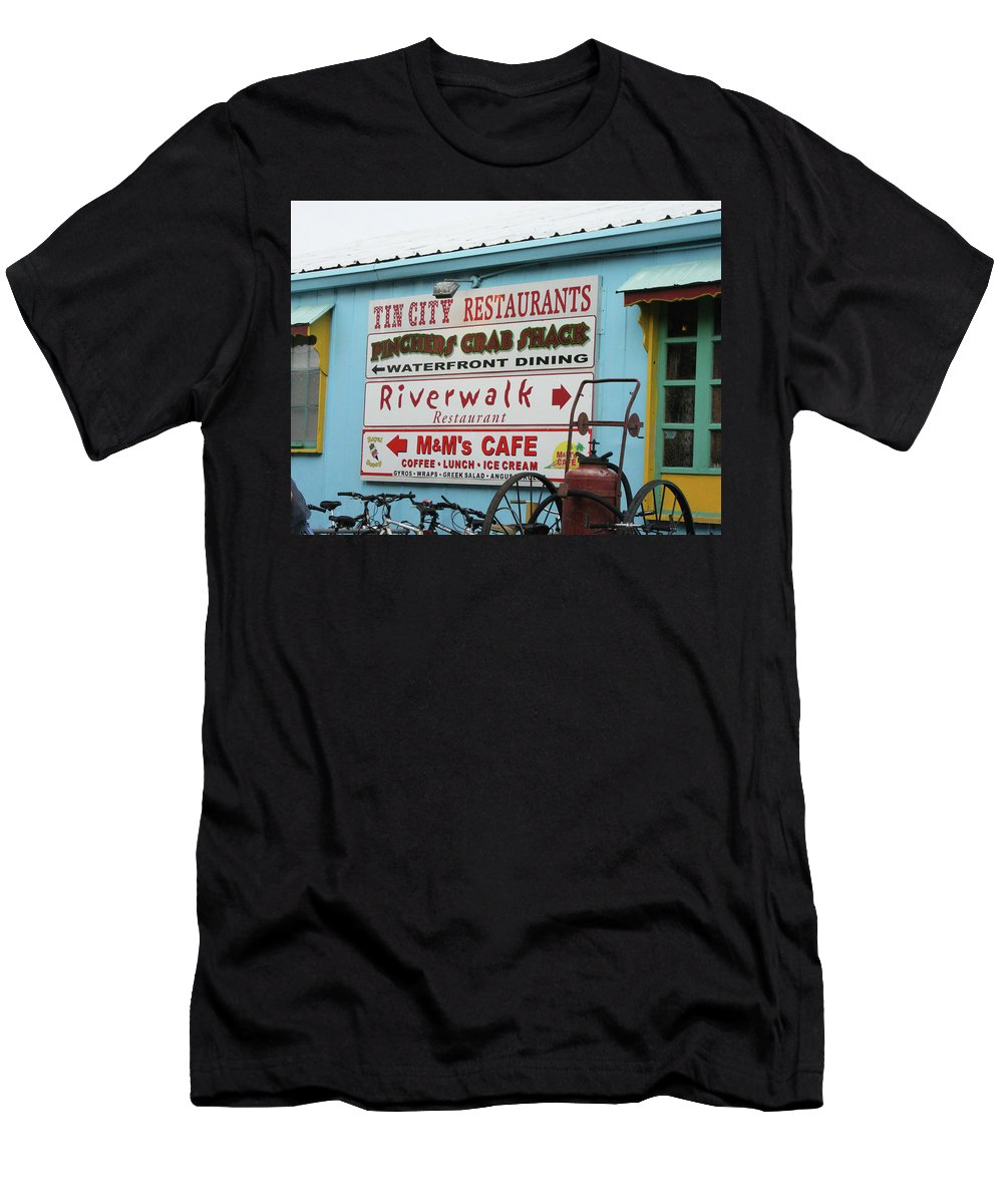 Tin City Men's T-Shirt (Athletic Fit) featuring the photograph Naples Fl by Imagery-at- Work
