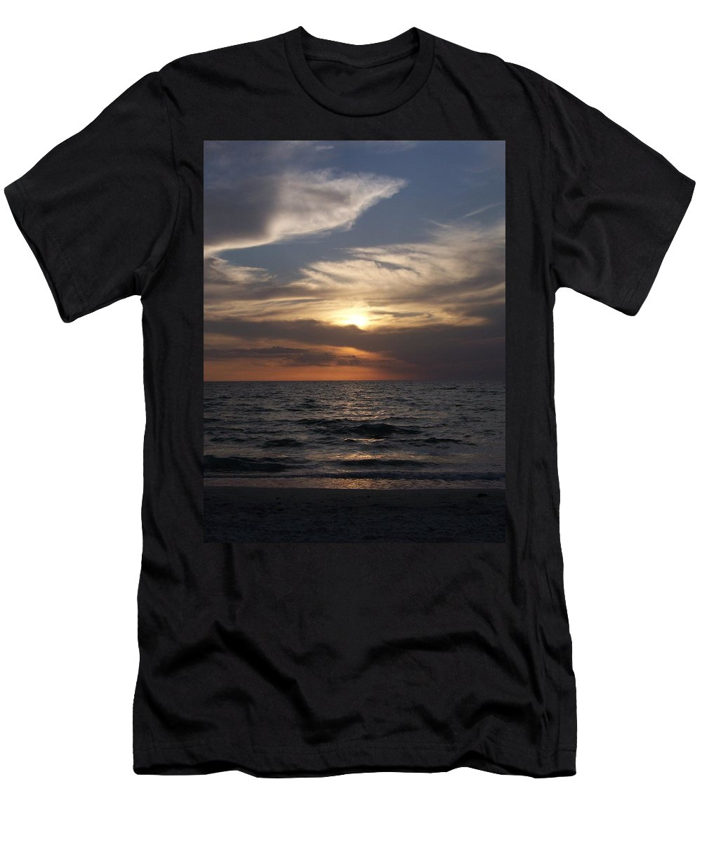 Naples Men's T-Shirt (Athletic Fit) featuring the photograph Naples Sunset 0043 by Laurie Paci
