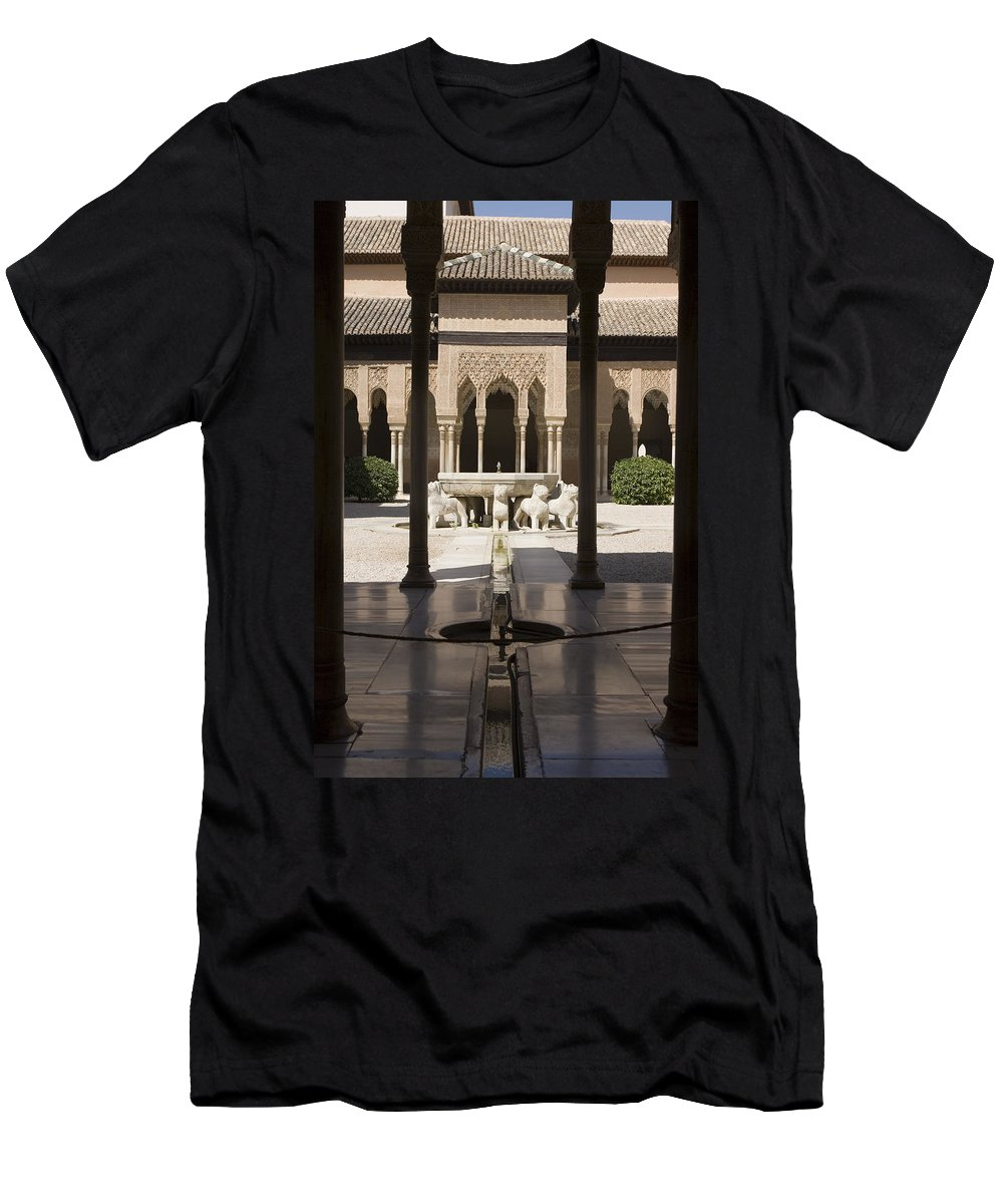 Alhambra Men's T-Shirt (Athletic Fit) featuring the photograph Nasrid Palaces Alhambra Granada Spain Europe by Mal Bray