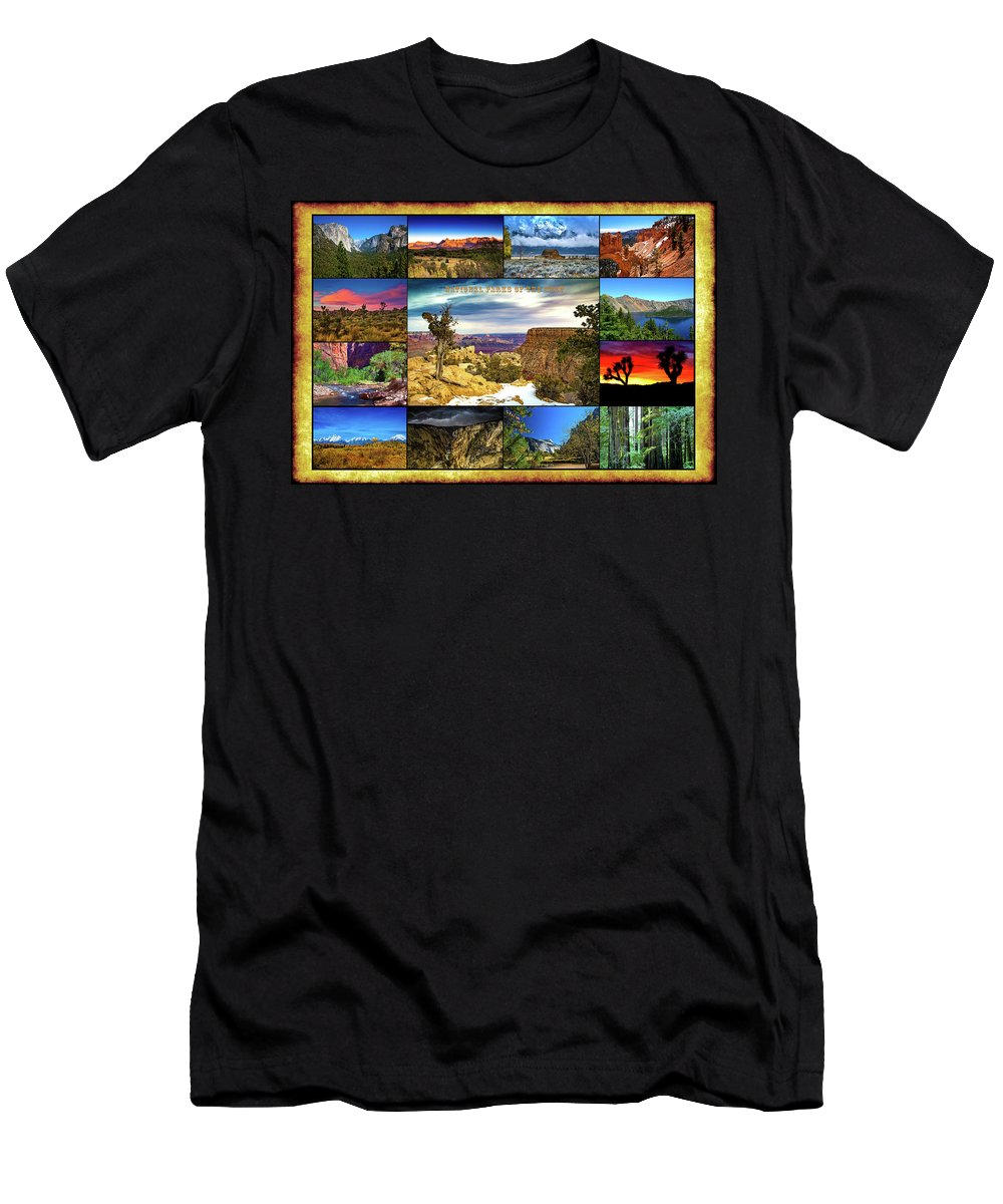 National Parks Men's T-Shirt (Athletic Fit) featuring the photograph National Parks Of The West by Richard Cronberg