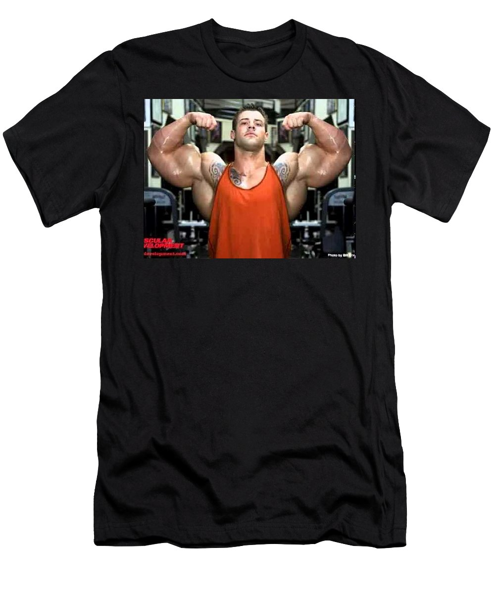 Alphamanix Men's T-Shirt (Athletic Fit) featuring the sculpture Natural And Safe Formula by Dorisanton