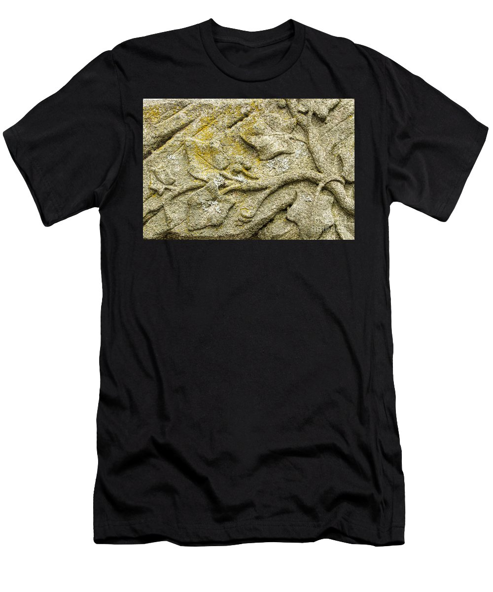 Carvings Men's T-Shirt (Athletic Fit) featuring the photograph Intertwining With Nature by Marilyn Cornwell