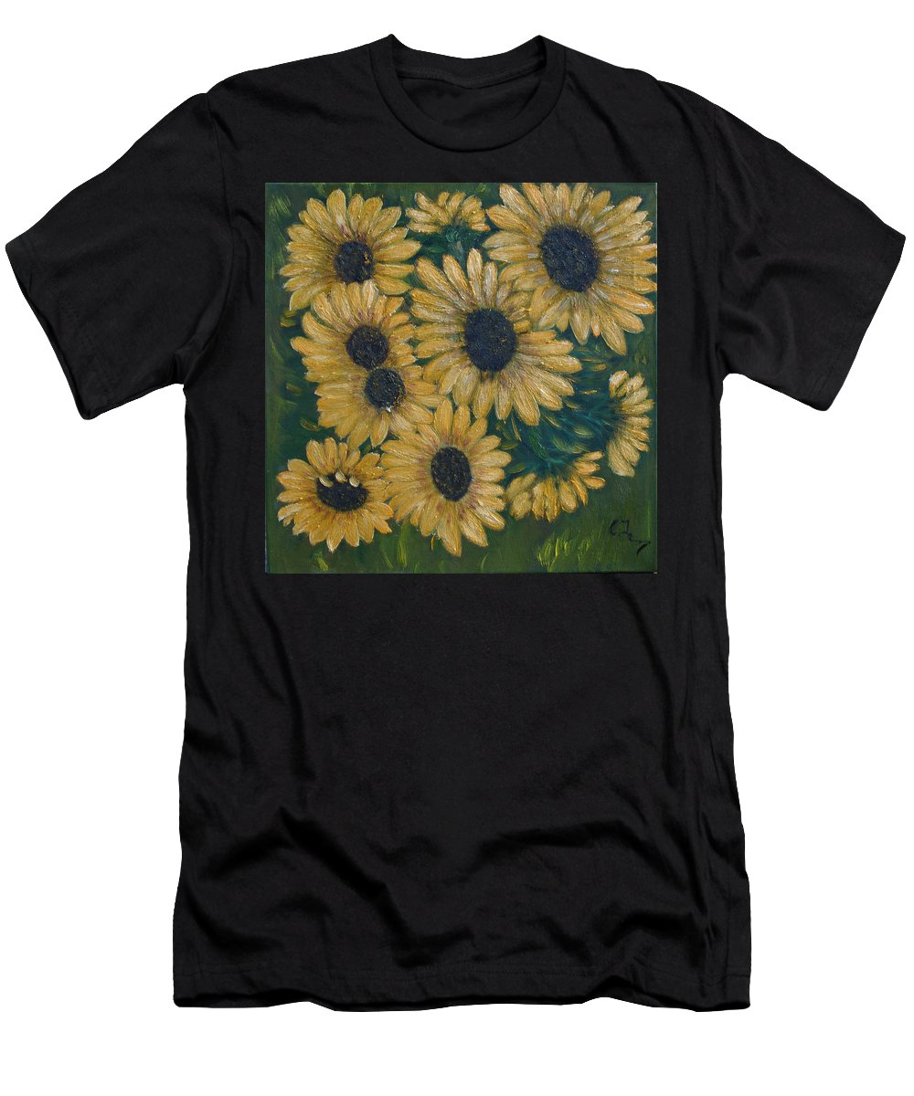 Art Deco Men's T-Shirt (Athletic Fit) featuring the painting Nature by Crina Iancau