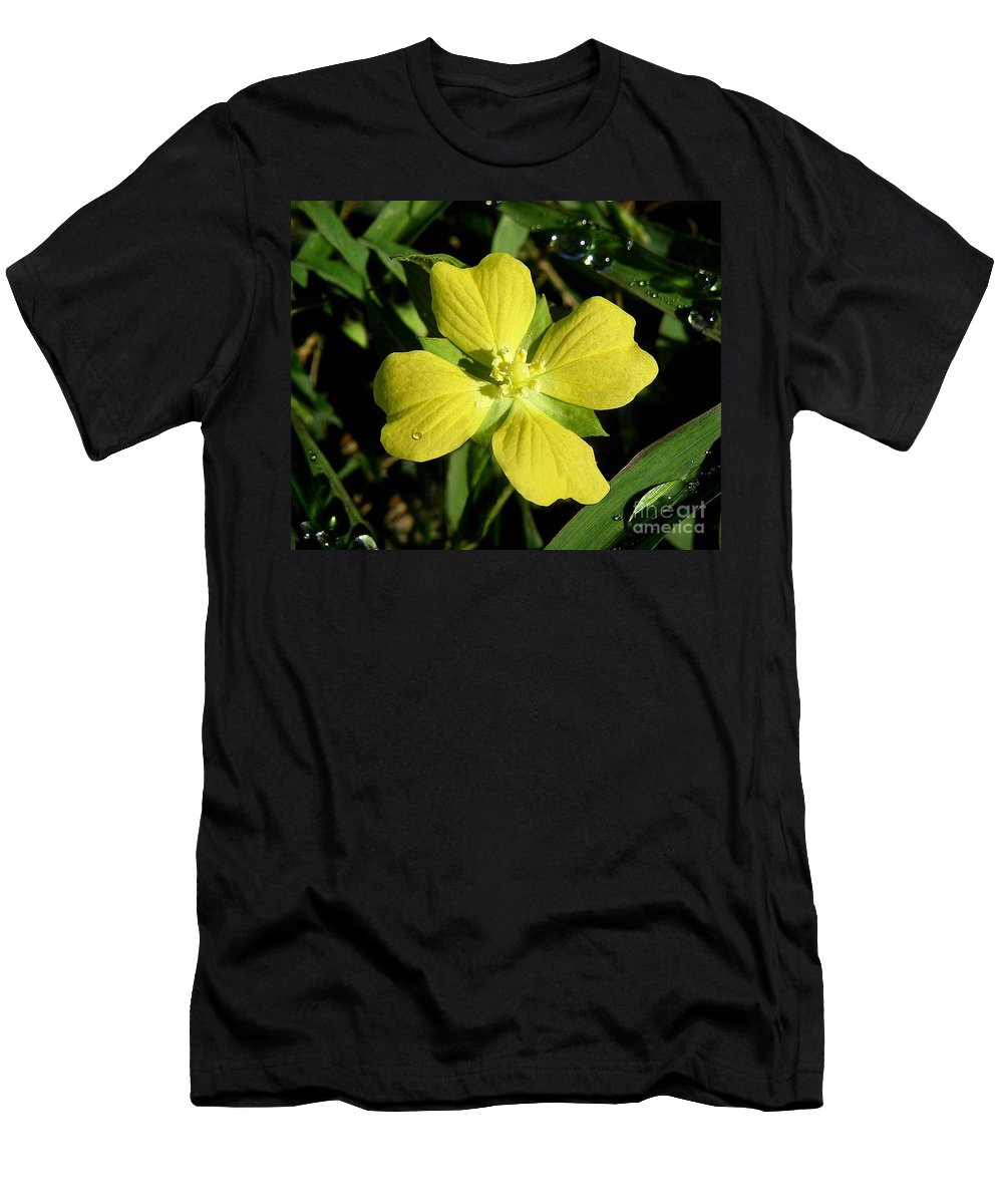 Nature Men's T-Shirt (Athletic Fit) featuring the photograph Nature In The Wild - Kissed By The Sun by Lucyna A M Green