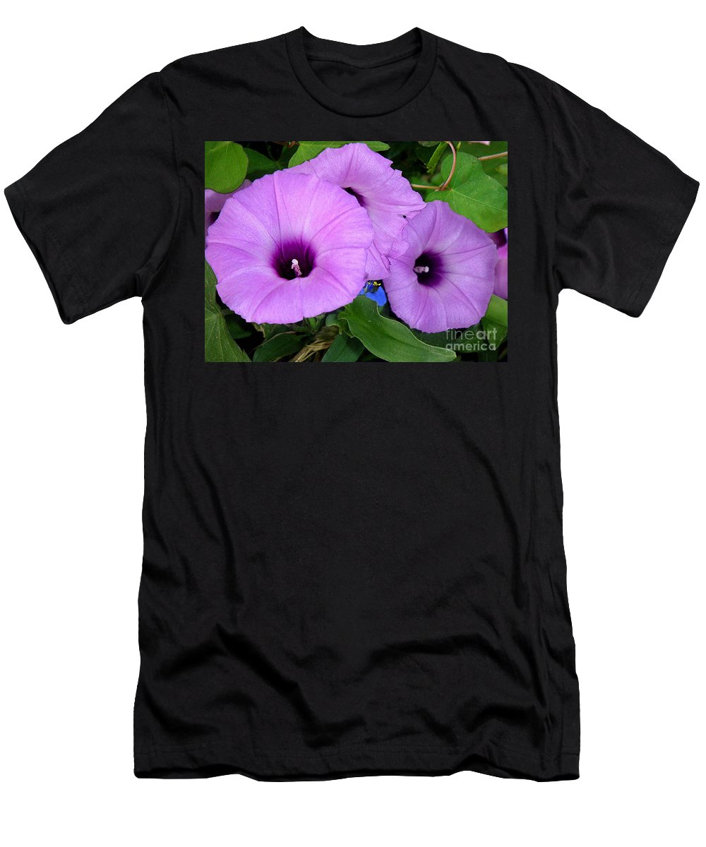 Nature Men's T-Shirt (Athletic Fit) featuring the photograph Nature In The Wild - Morning Bells by Lucyna A M Green