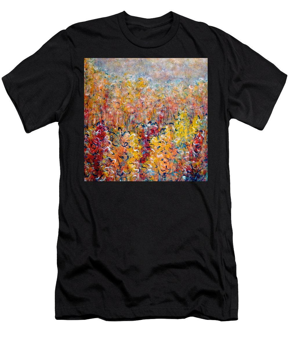 Autumn Men's T-Shirt (Athletic Fit) featuring the painting Nature by Natalie Holland