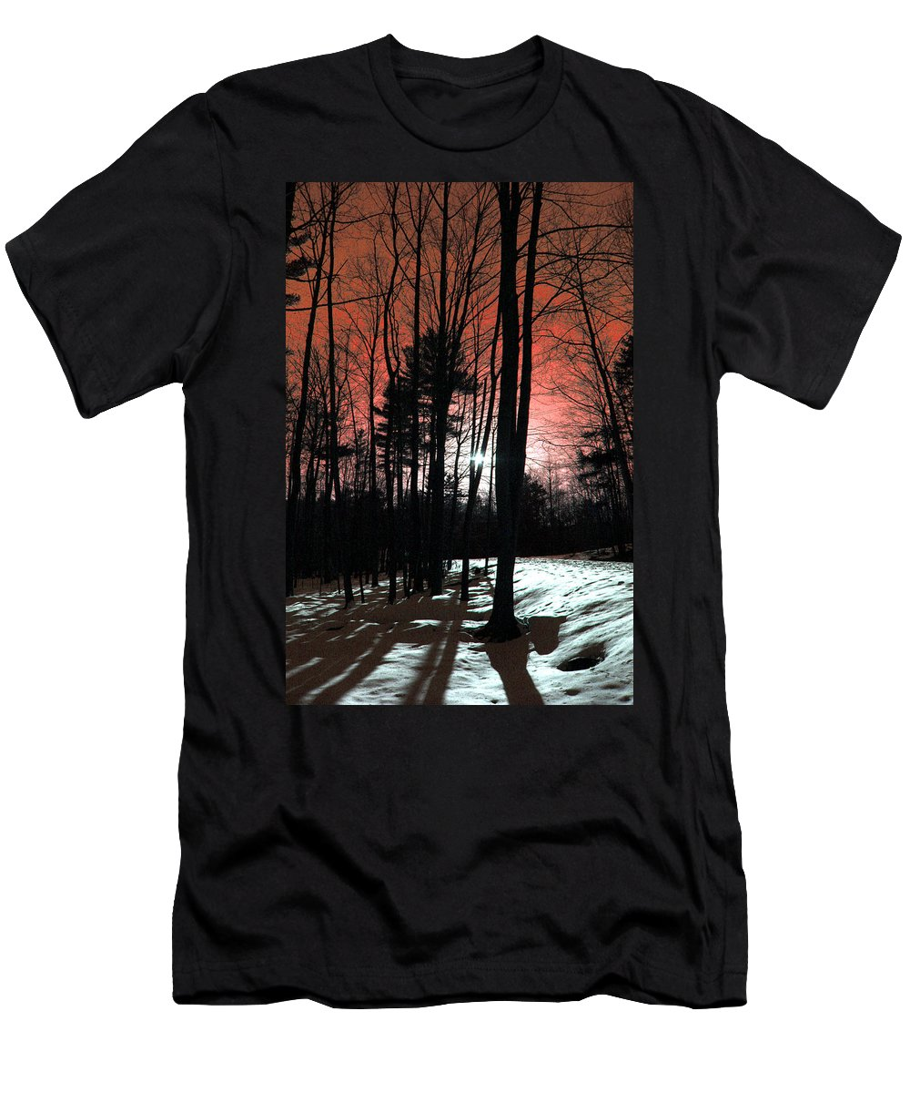 Nature Men's T-Shirt (Athletic Fit) featuring the photograph Nature Of Wood by Mark Ashkenazi