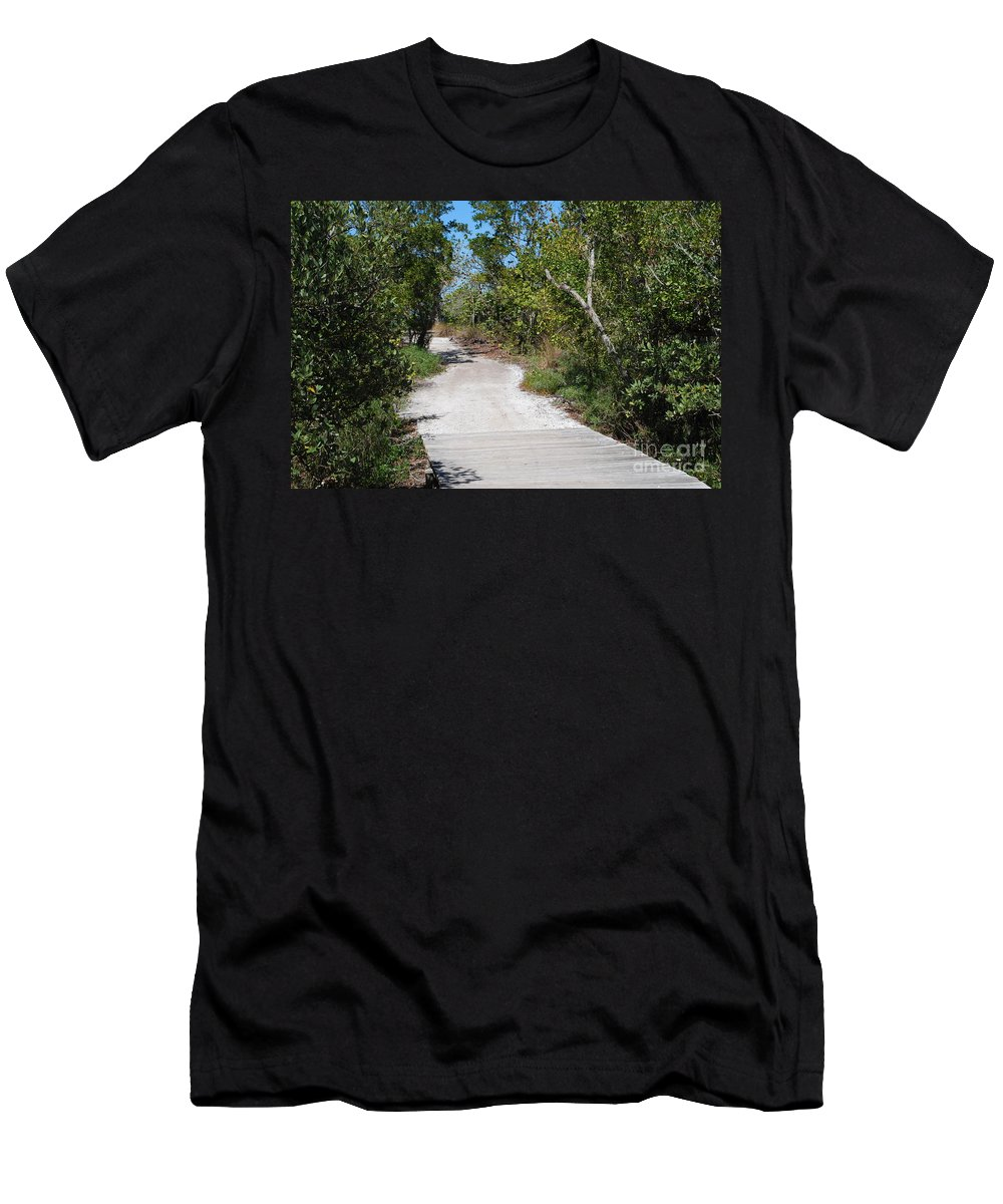 Gravel Men's T-Shirt (Athletic Fit) featuring the photograph Nature Trail by Gary Wonning