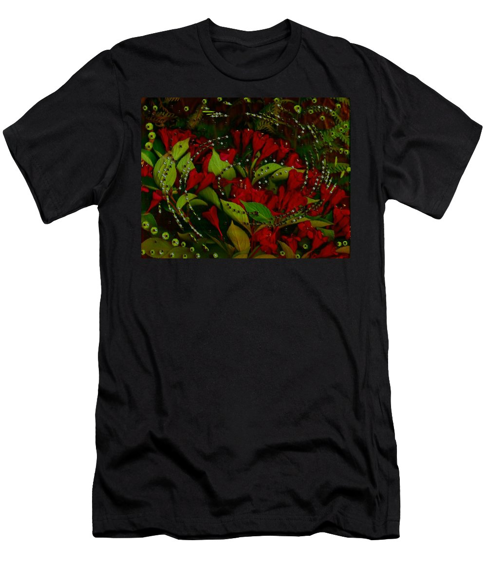 Flower Men's T-Shirt (Athletic Fit) featuring the mixed media Nature When Its Magical by Pepita Selles