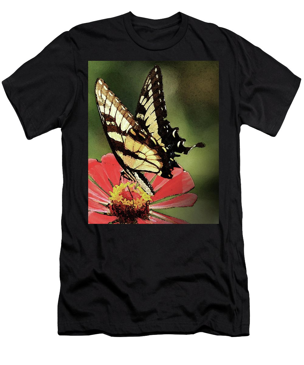 Butterflies Men's T-Shirt (Athletic Fit) featuring the digital art Nature's Beauty by Kim Henderson