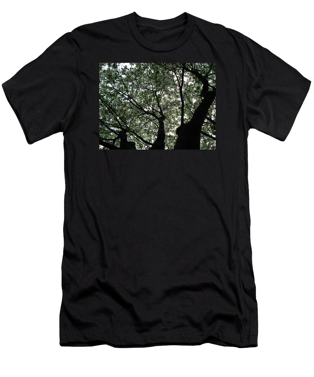 Flowers Men's T-Shirt (Athletic Fit) featuring the photograph Nature's Cathedral 2 by Nelson F Martinez