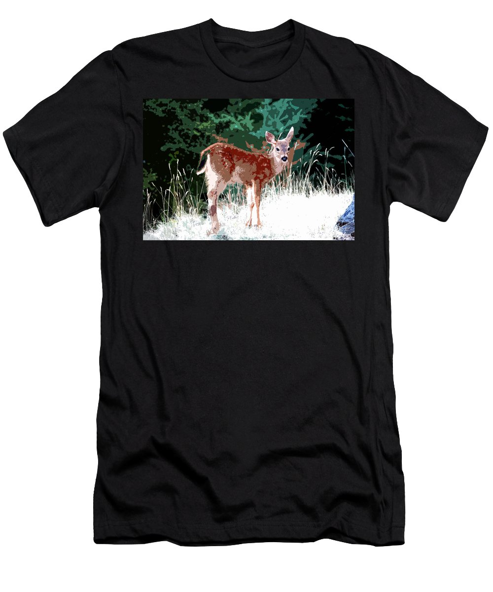 Dear Men's T-Shirt (Athletic Fit) featuring the painting Natures Child by David Lee Thompson