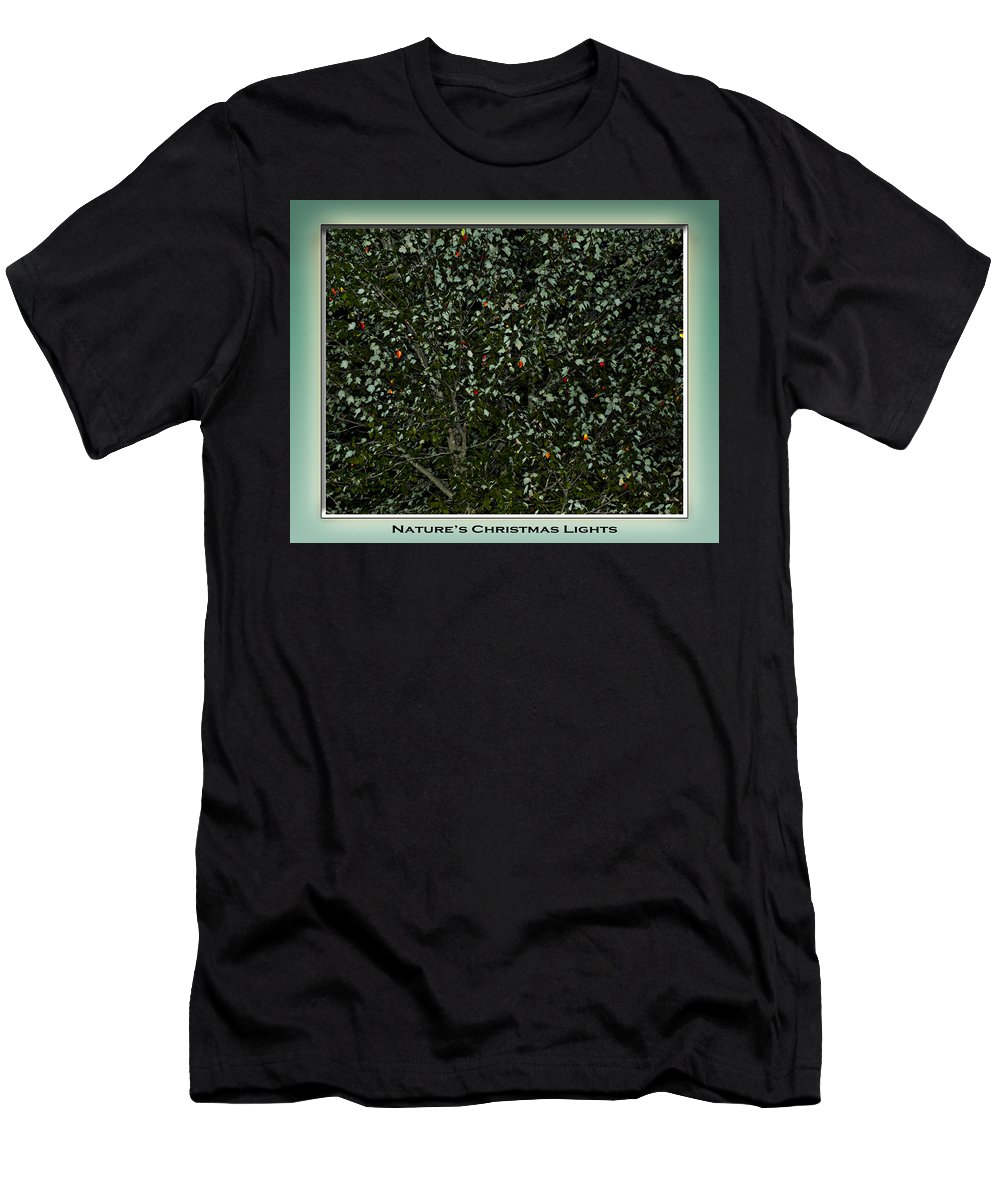 Fall Men's T-Shirt (Athletic Fit) featuring the photograph Nature's Christmas Lights by Gary Adkins