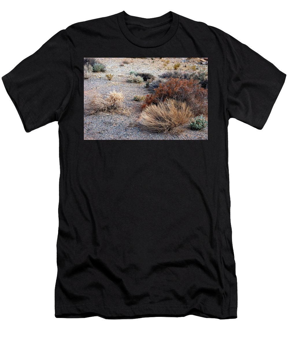 Sage Brush Men's T-Shirt (Athletic Fit) featuring the photograph Natures Garden - Utah by D'Arcy Evans