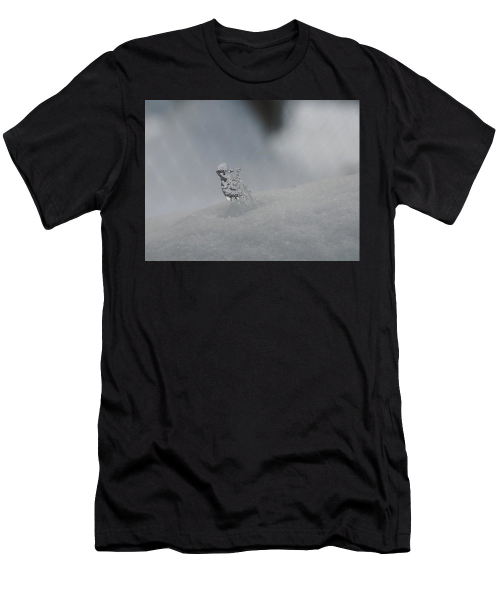 Snow Men's T-Shirt (Athletic Fit) featuring the photograph Natures Sculpture by Betty-Anne McDonald
