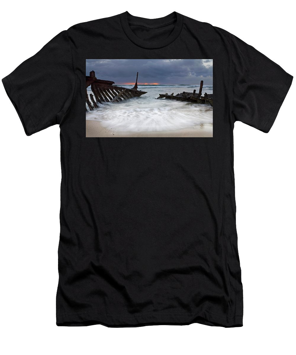 Keel Men's T-Shirt (Athletic Fit) featuring the photograph Nautical Skeleton by Mike Dawson