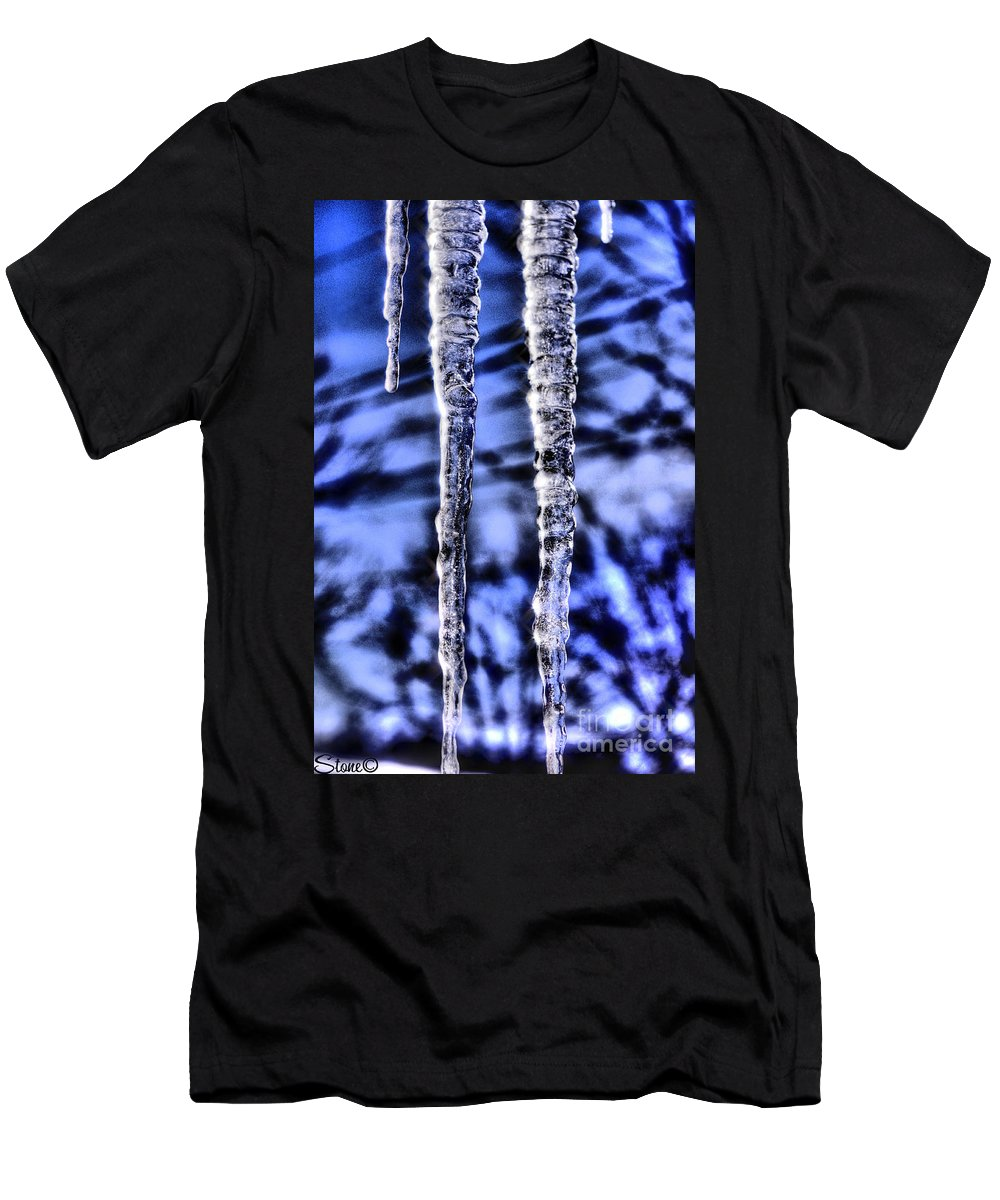 Icicles Men's T-Shirt (Athletic Fit) featuring the photograph Nautilus by September Stone