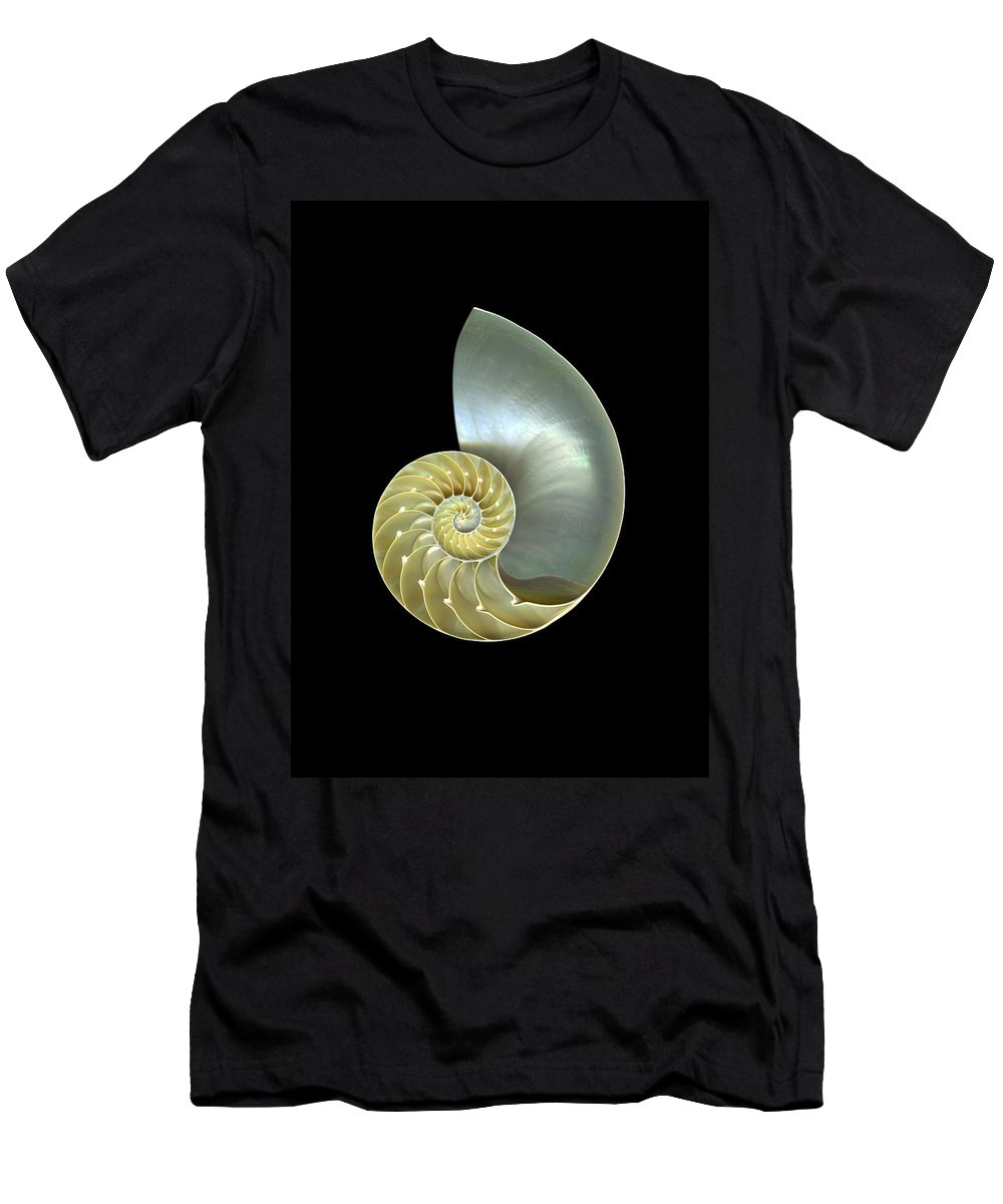 Slanec Men's T-Shirt (Athletic Fit) featuring the photograph Nautilus Nr.1 by Christian Slanec