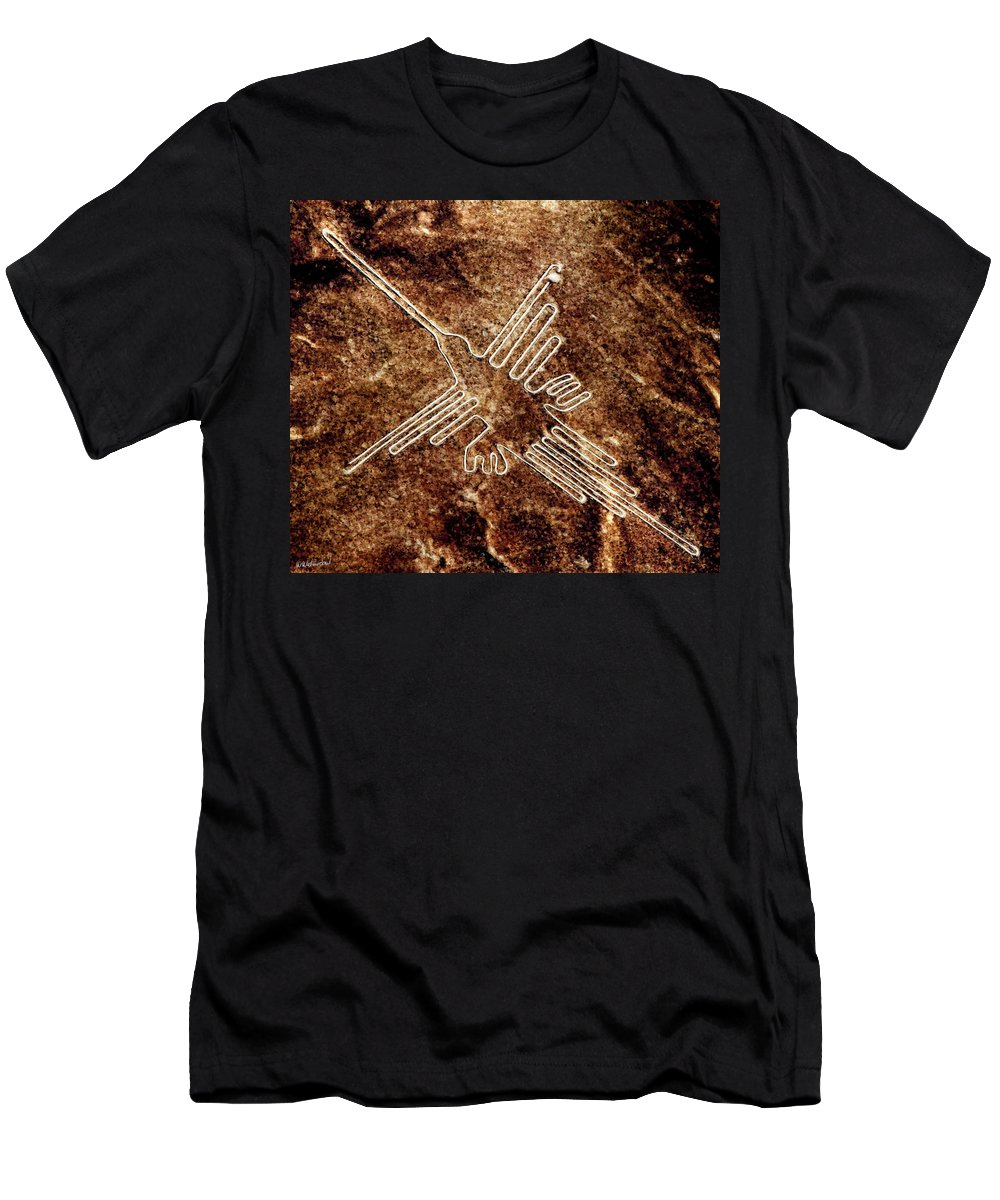 Nazca Hummingbird Men's T-Shirt (Athletic Fit) featuring the painting Nazca Hummingbird by Weston Westmoreland
