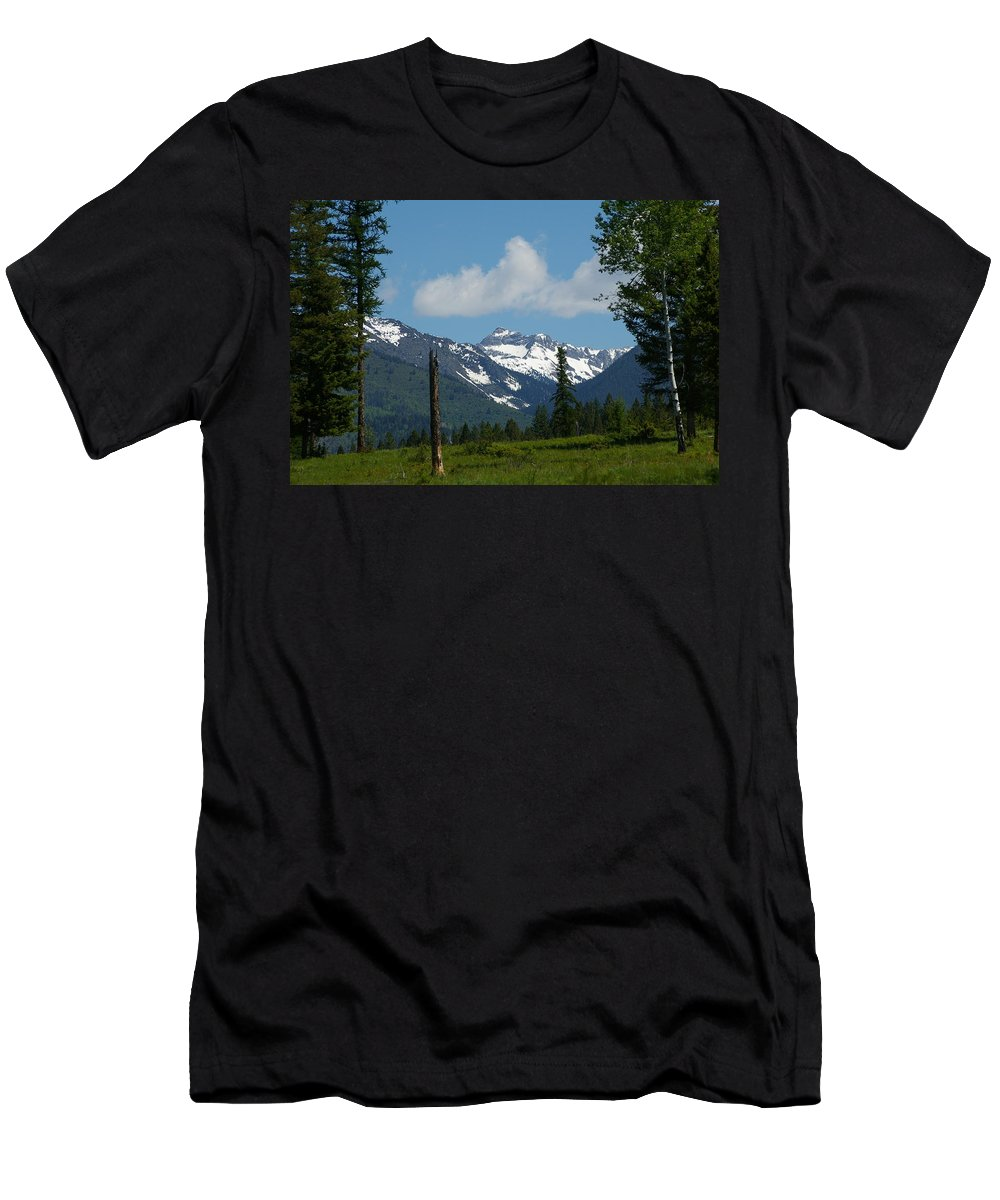 Spar-wood Men's T-Shirt (Athletic Fit) featuring the photograph Near Sparwood British Columbia by Jeff Swan