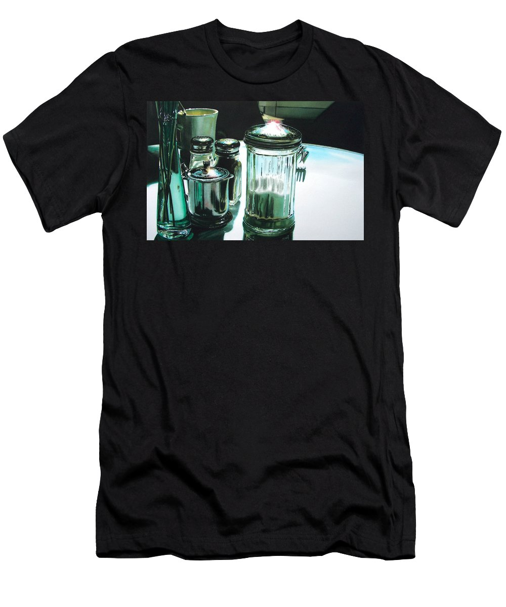 Still Life Men's T-Shirt (Athletic Fit) featuring the painting Necessities by Denny Bond