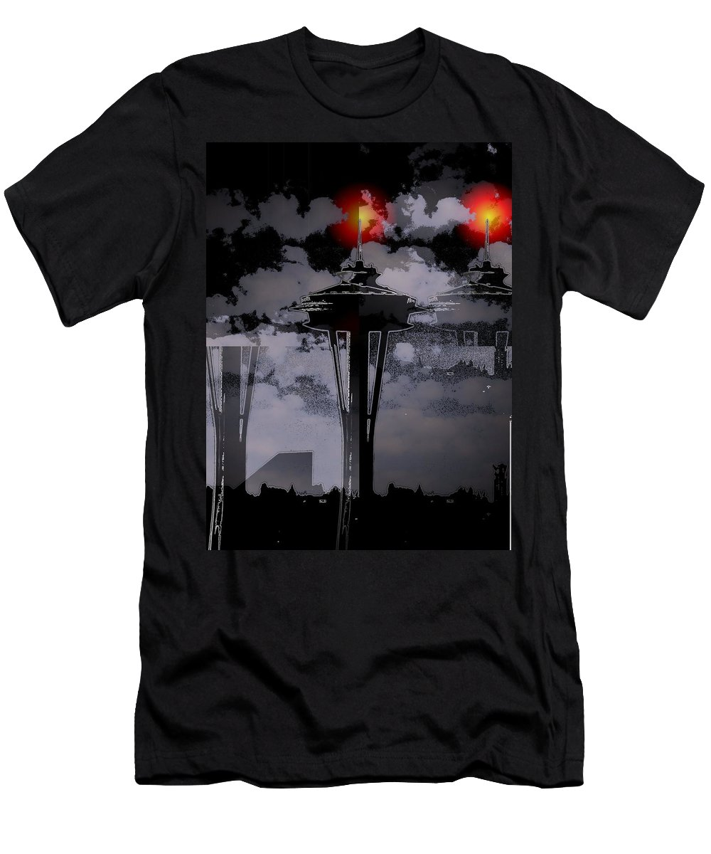 Seattle Men's T-Shirt (Athletic Fit) featuring the digital art Needle In Flux by Tim Allen