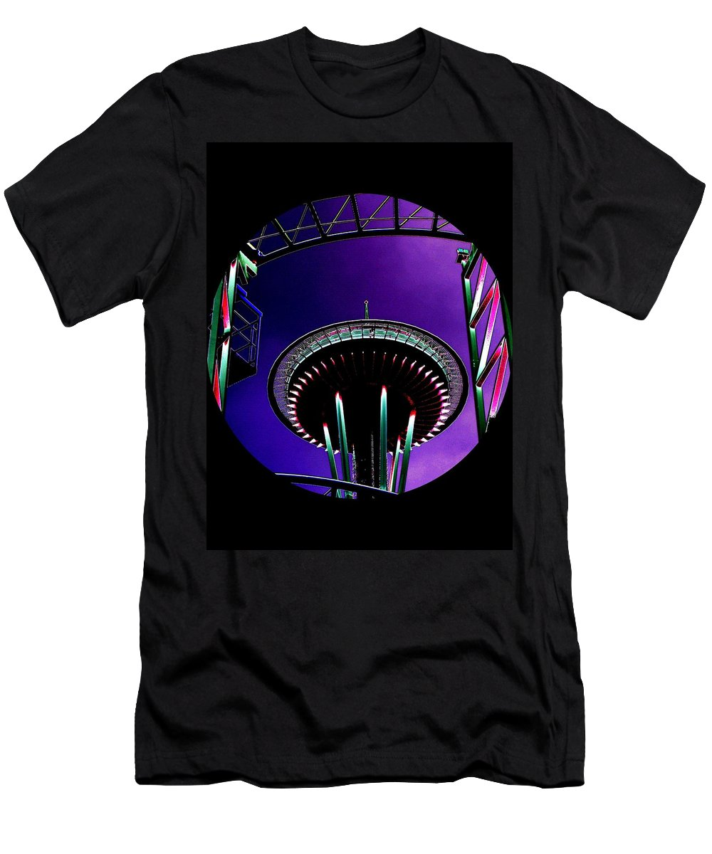 Seattle Men's T-Shirt (Athletic Fit) featuring the digital art Needle Rollercoaster by Tim Allen