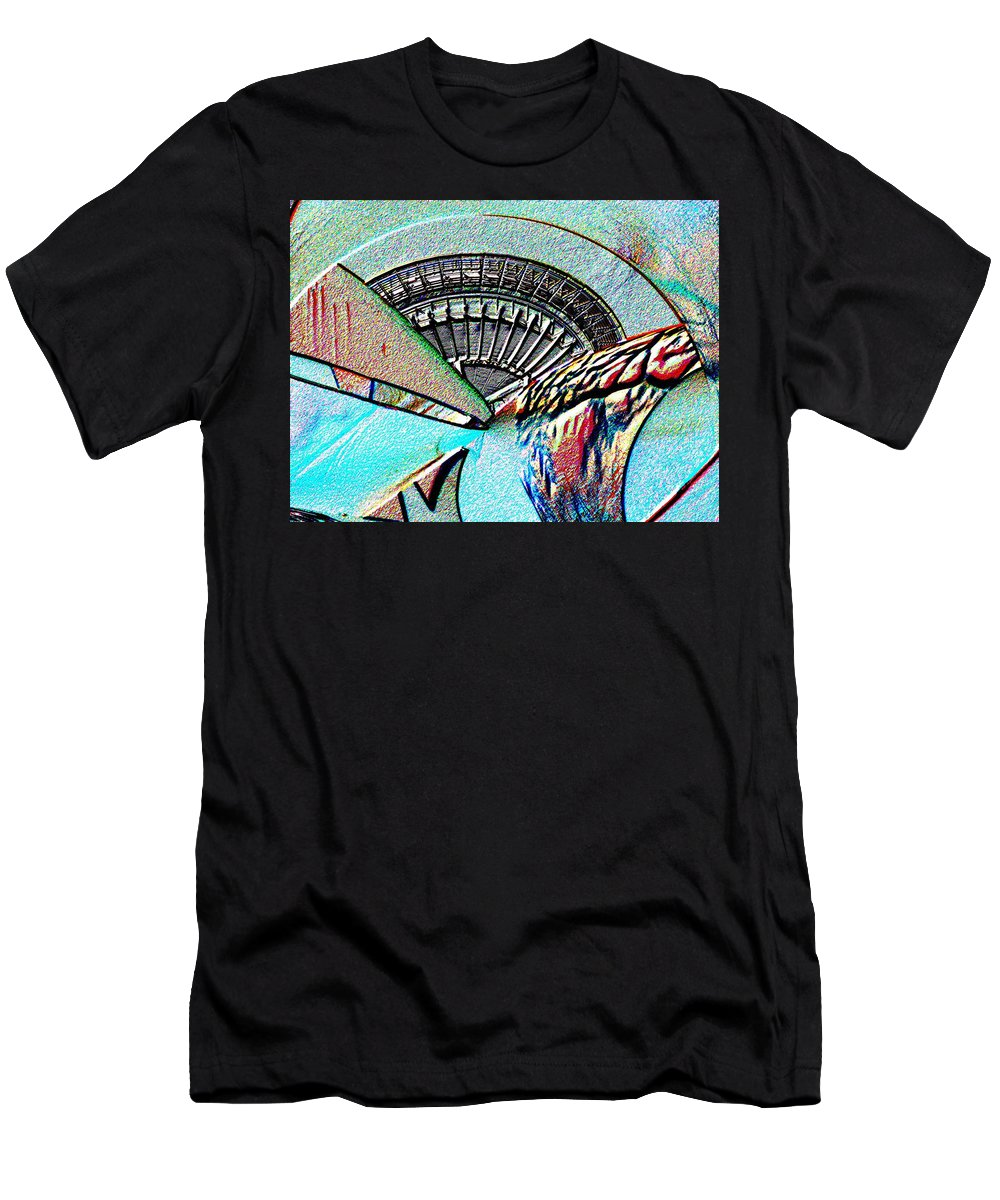 Seattle Men's T-Shirt (Athletic Fit) featuring the digital art Needle Tubes by Tim Allen