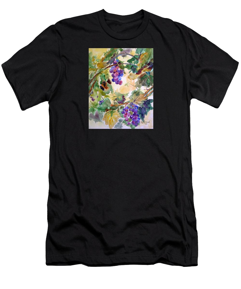 Paintings Men's T-Shirt (Athletic Fit) featuring the painting Neighborhood Grapevine by Kathy Braud