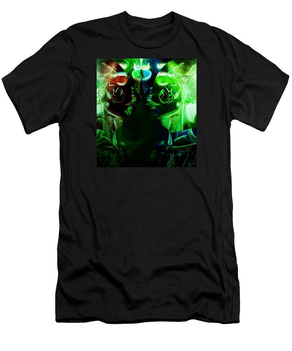 Neon Men's T-Shirt (Athletic Fit) featuring the digital art Neon by Anastasiia Klymenko