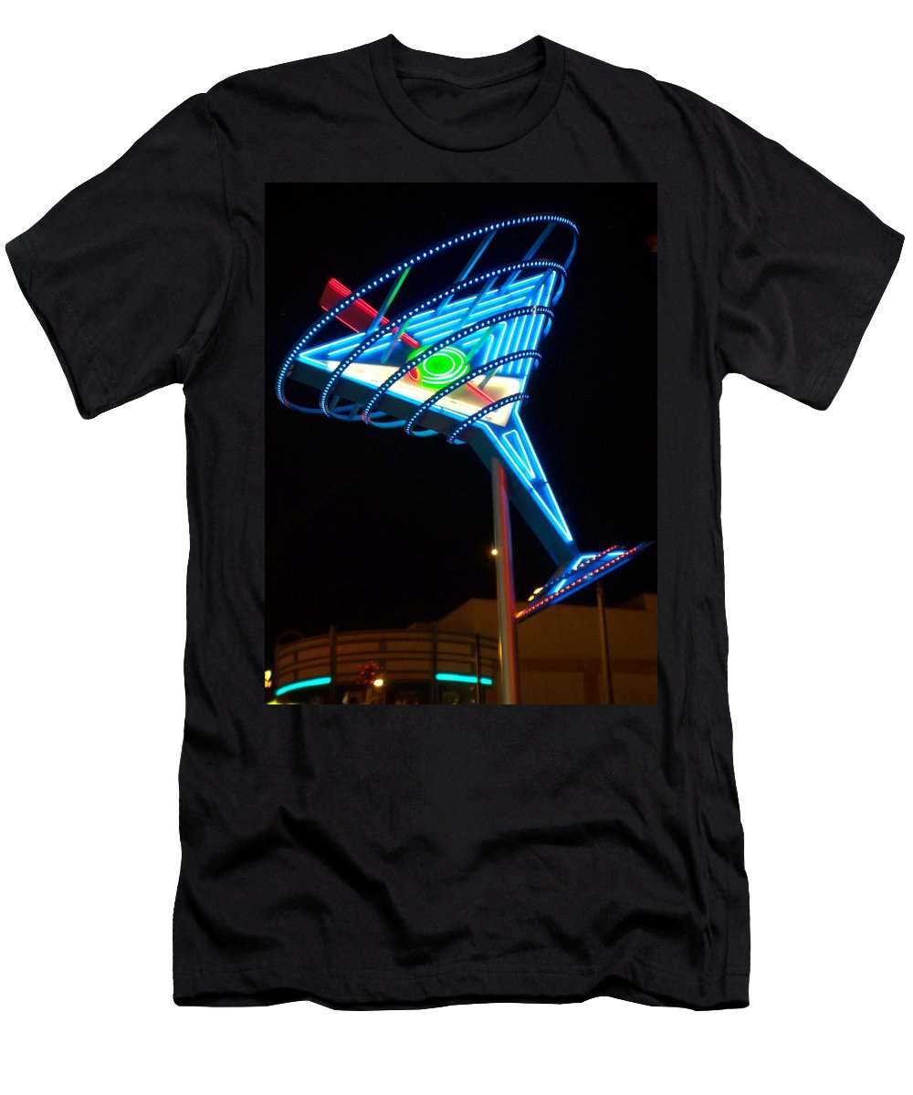 Fremont East Men's T-Shirt (Athletic Fit) featuring the photograph Neon Signs 4 by Anita Burgermeister