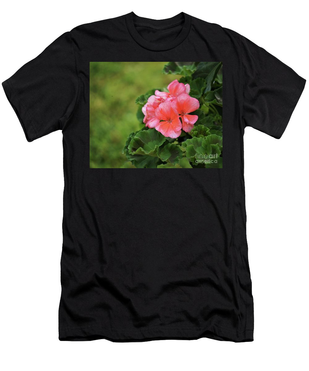 Flower Men's T-Shirt (Athletic Fit) featuring the photograph Nestled  by Karen Beasley