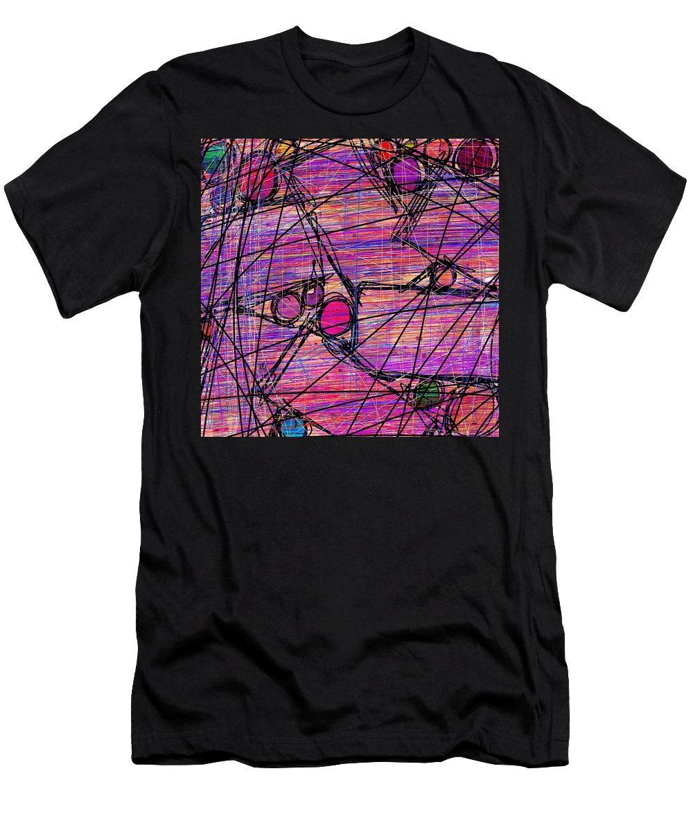 Abstract Men's T-Shirt (Athletic Fit) featuring the digital art Networking by Rachel Christine Nowicki