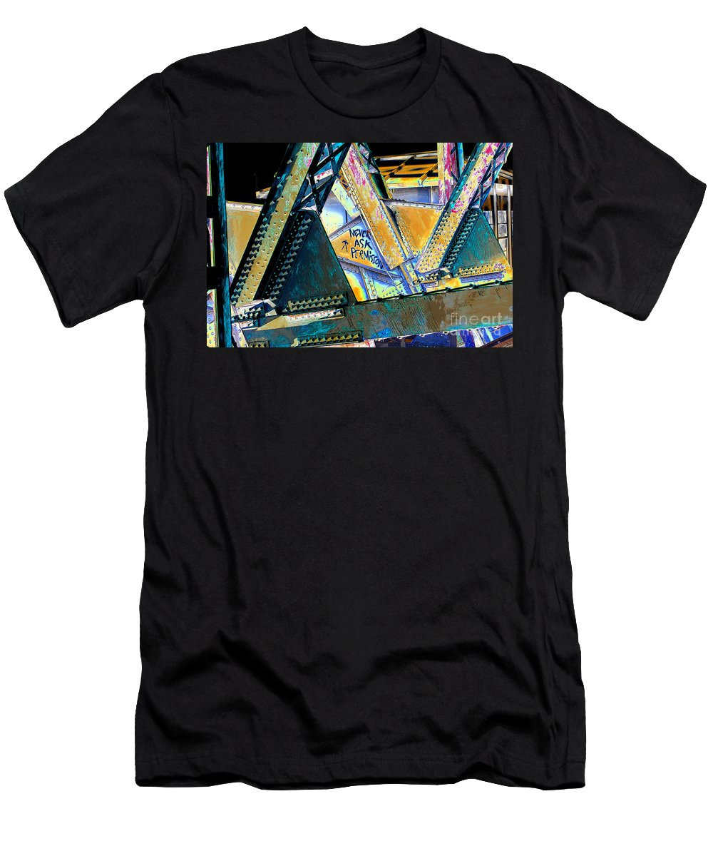 Art Men's T-Shirt (Athletic Fit) featuring the painting Never Ask Permission by David Lee Thompson