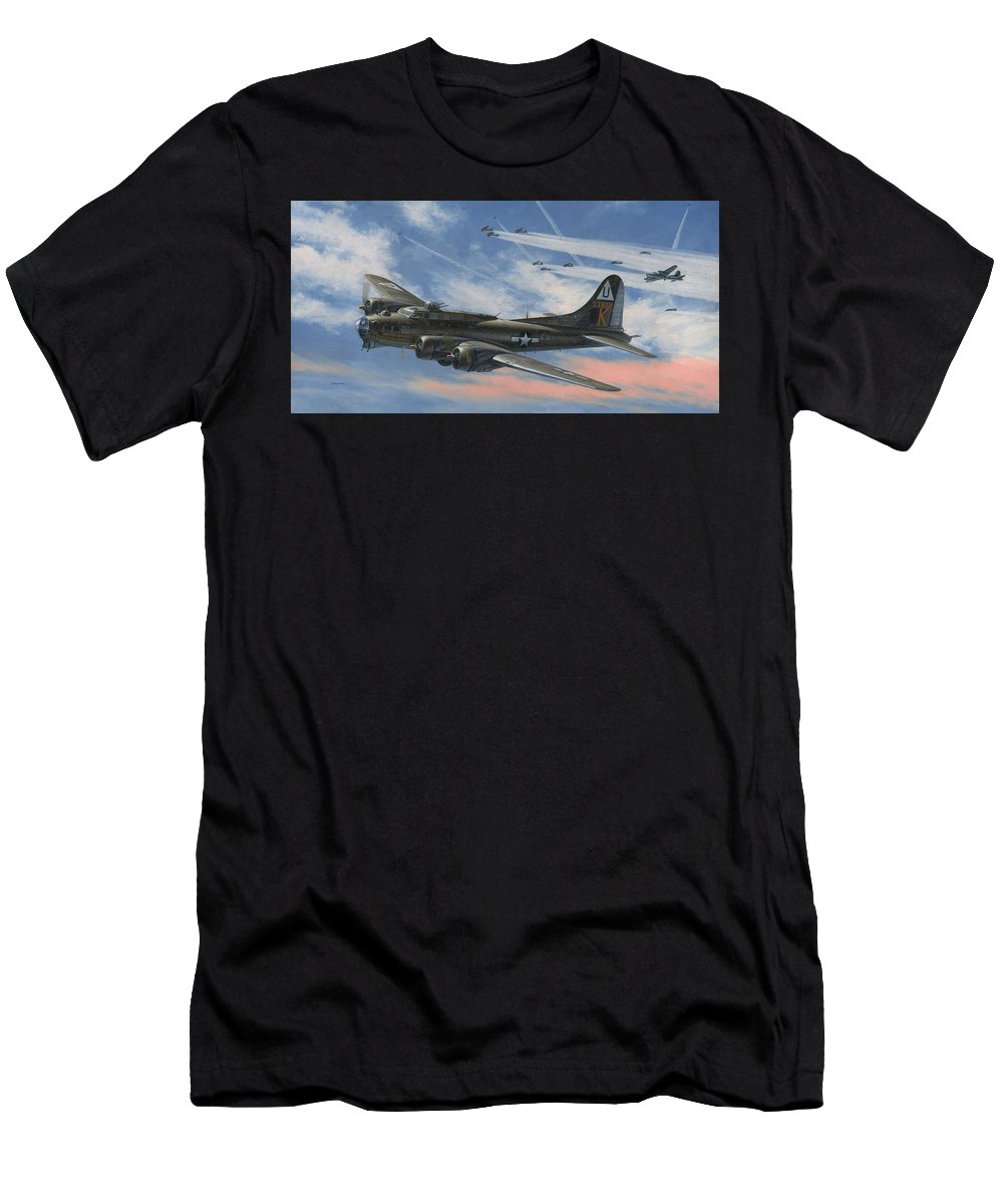 Boeing T-Shirt featuring the painting Never Turned Back by Wade Meyers