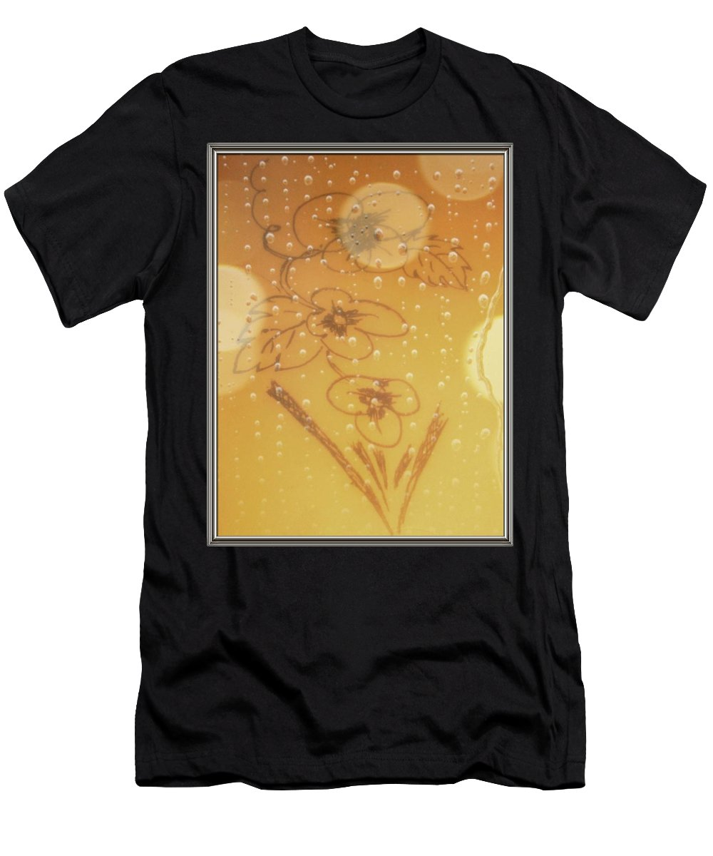 Flower Men's T-Shirt (Athletic Fit) featuring the drawing New Born by Sant Bhuarya