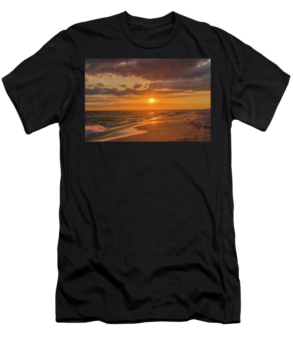 New Men's T-Shirt (Athletic Fit) featuring the photograph New Jersey Has The Best Sunsets - Cape May by Bill Cannon