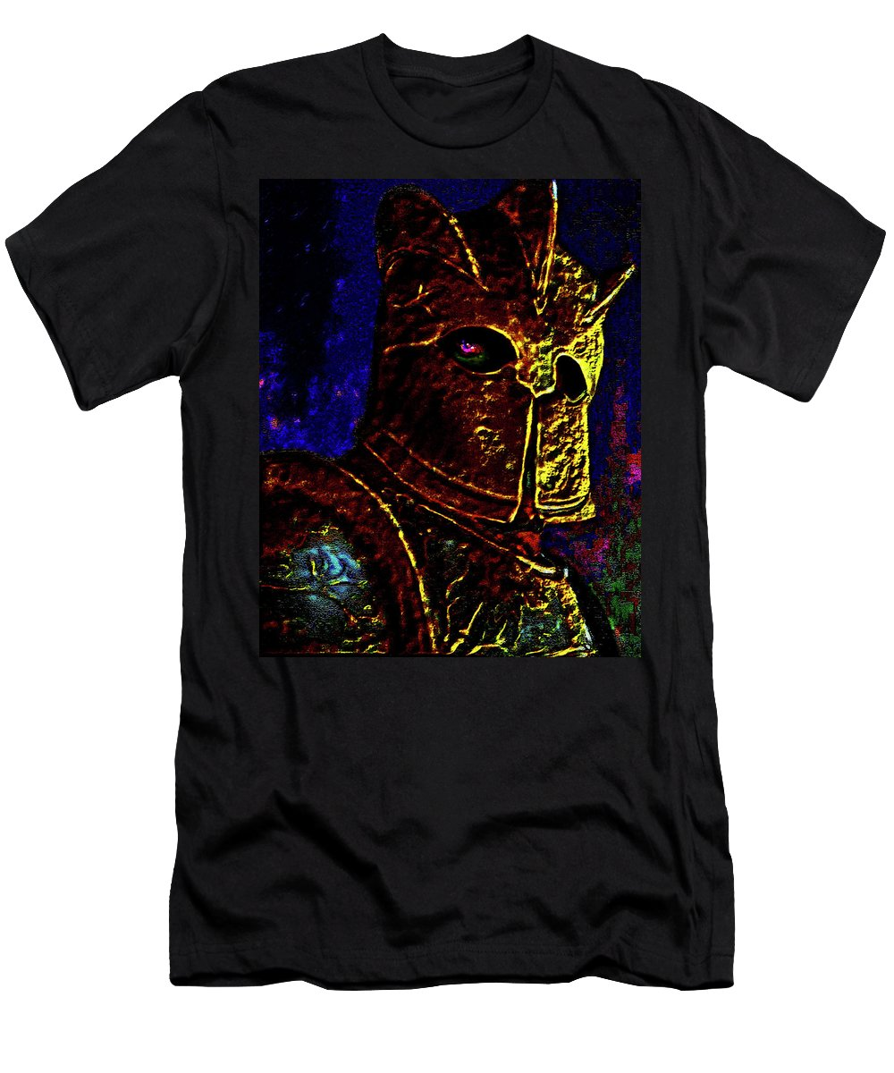 New Knight Men's T-Shirt (Athletic Fit) featuring the photograph New Knight Of The King's Guard. Mask. by Andy Za