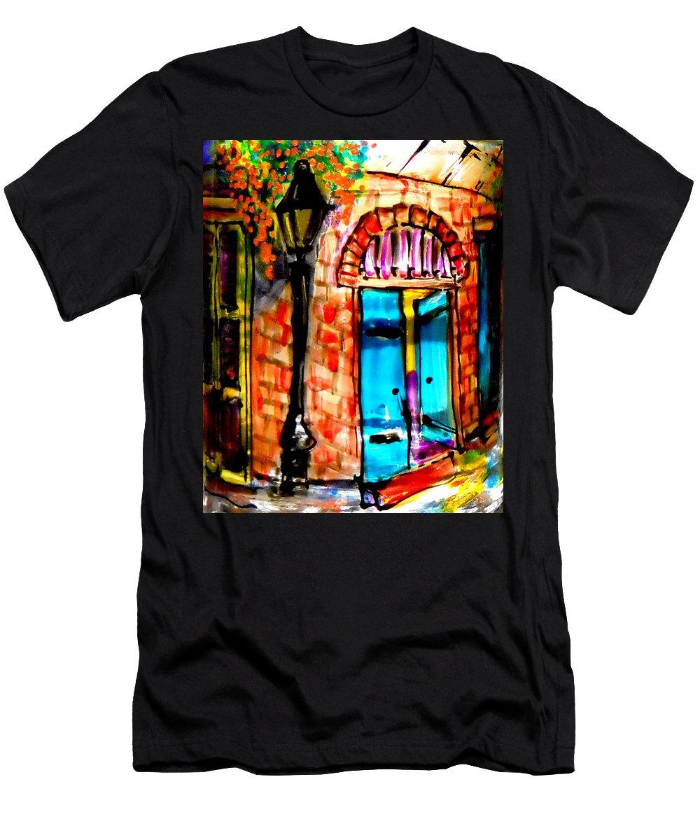Fine Art Print Men's T-Shirt (Athletic Fit) featuring the photograph New Orleans French Quarter by Deborah jordan Sackett