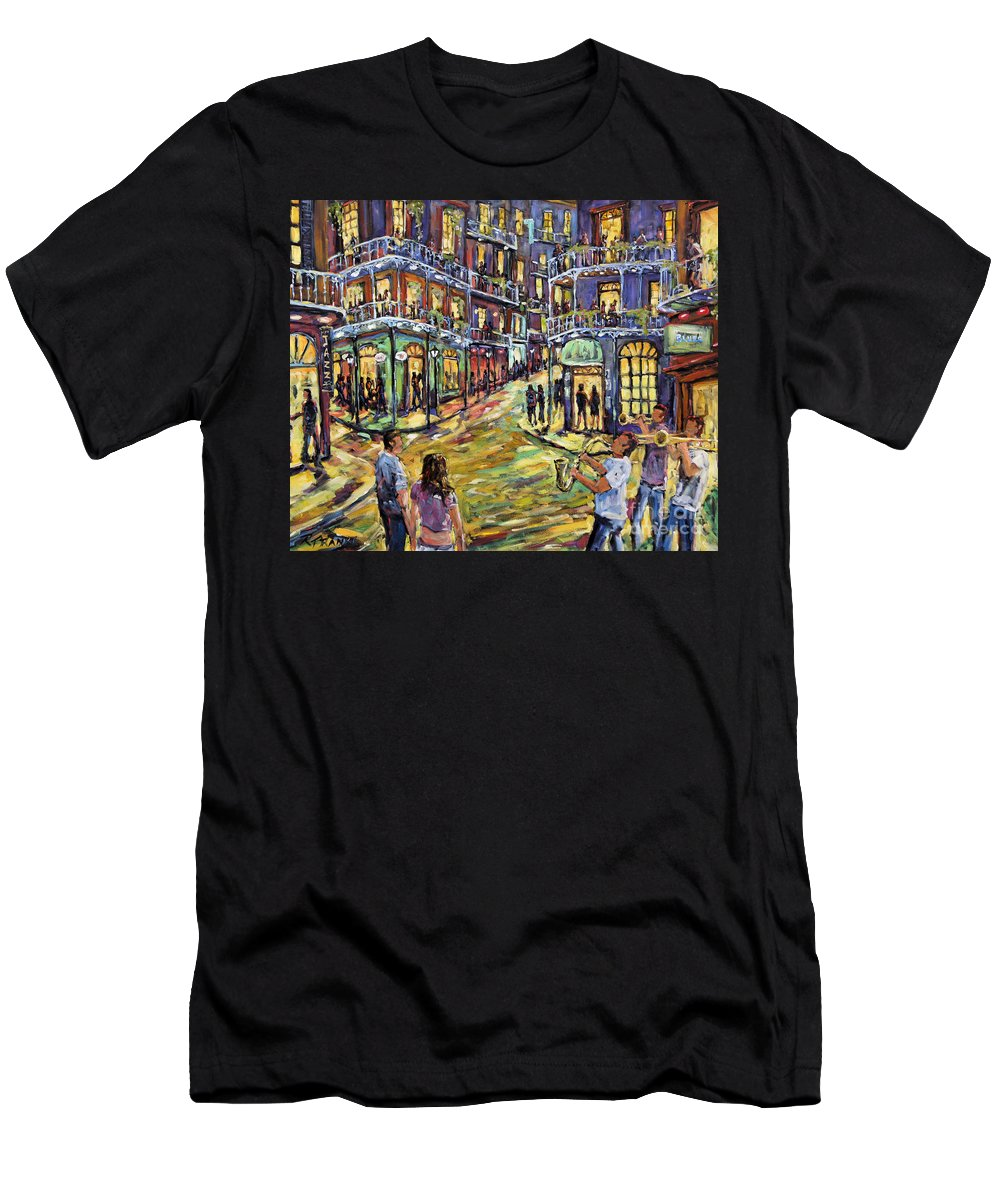 Canadian Men's T-Shirt (Athletic Fit) featuring the painting New Orleans Jazz Night By Prankearts Fine Art by Richard T Pranke