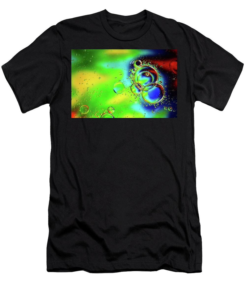 Macro Men's T-Shirt (Athletic Fit) featuring the photograph New Year Bubbles by Steve Sullivan