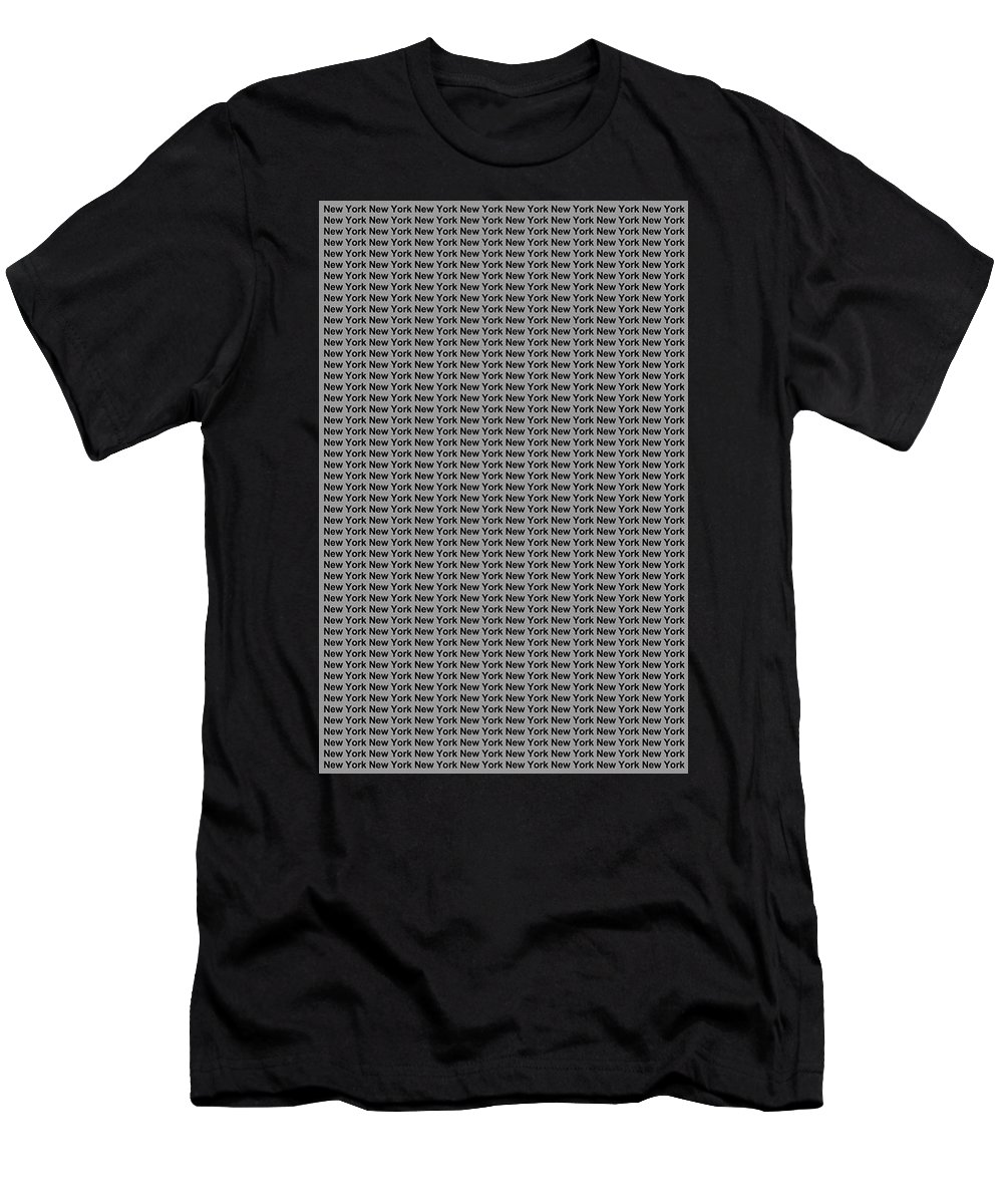 New York Men's T-Shirt (Athletic Fit) featuring the digital art New York No 4 by LogCabinCottage