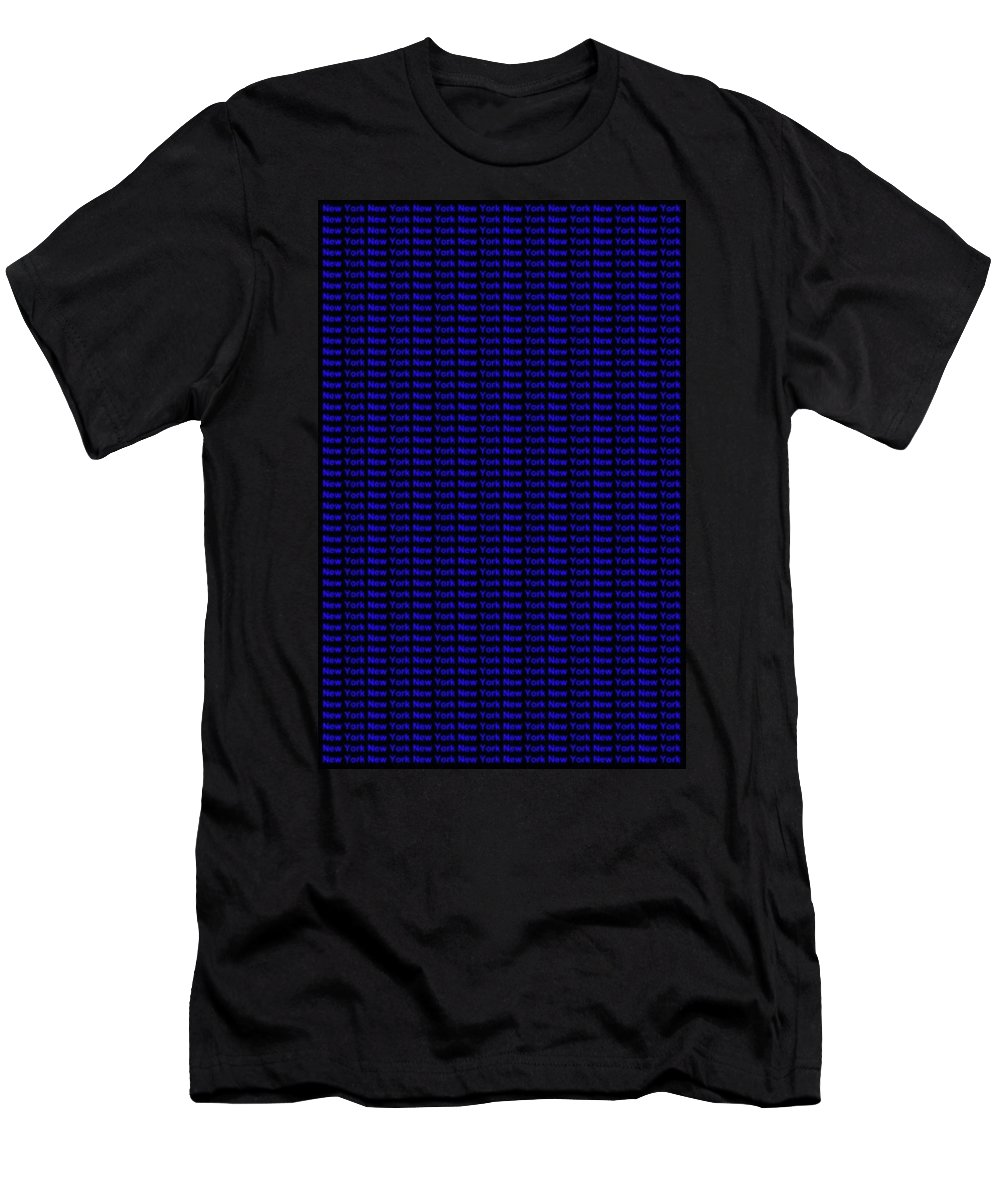 New York Men's T-Shirt (Athletic Fit) featuring the digital art New York No 2 by LogCabinCottage