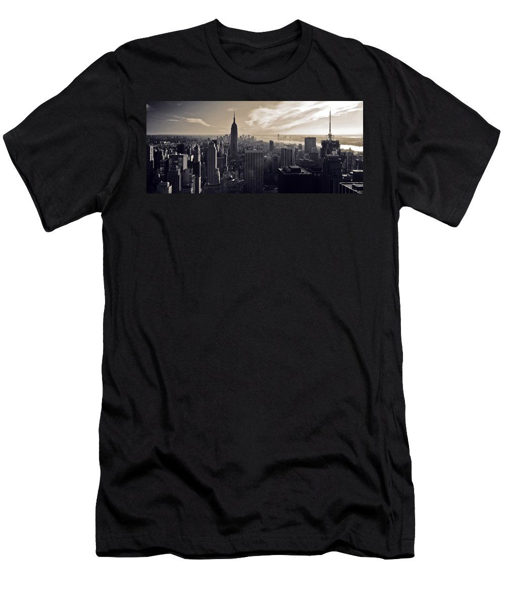 New York Men's T-Shirt (Athletic Fit) featuring the photograph New York by Dave Bowman