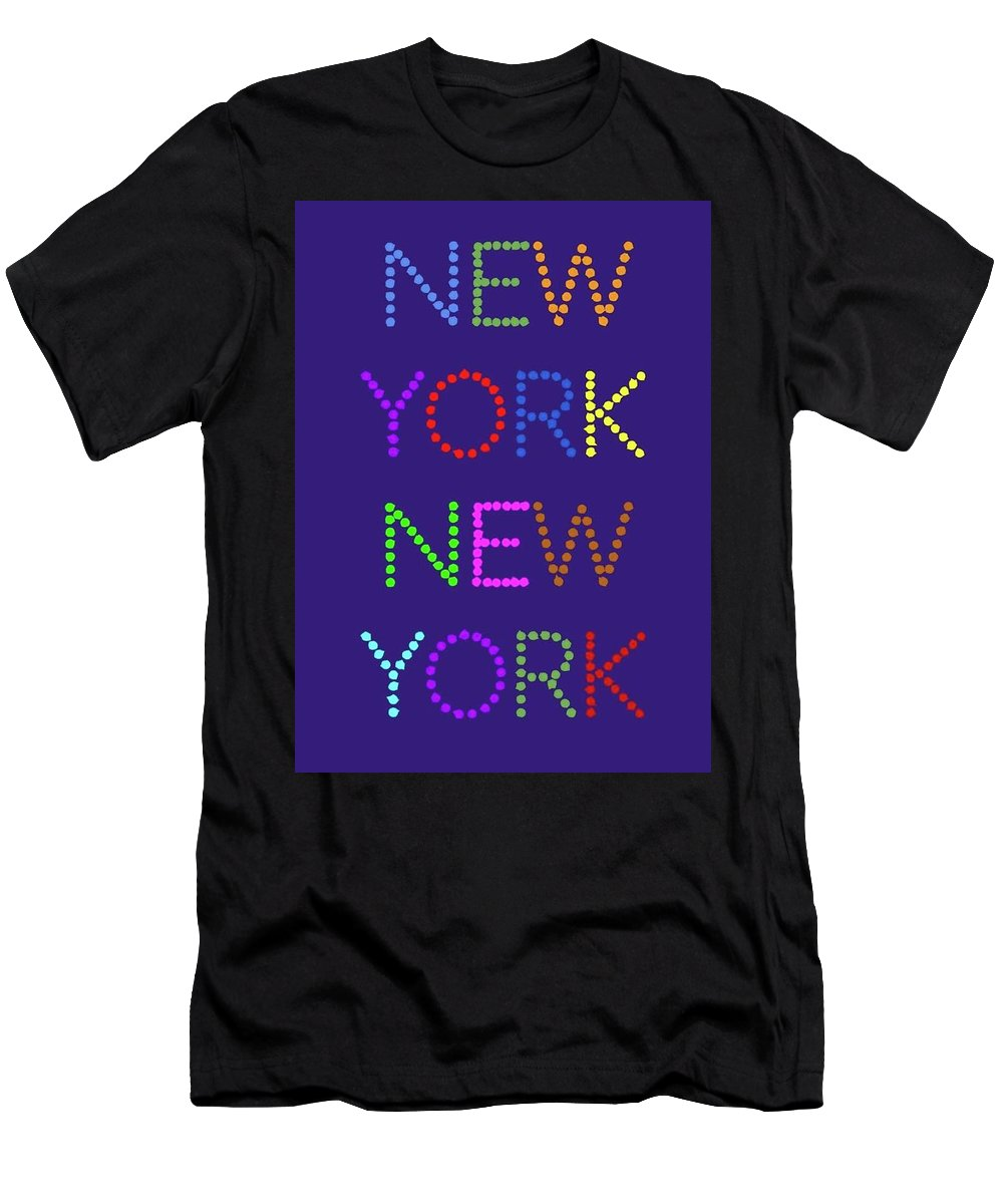 New York Men's T-Shirt (Athletic Fit) featuring the digital art New York No 5 by LogCabinCottage
