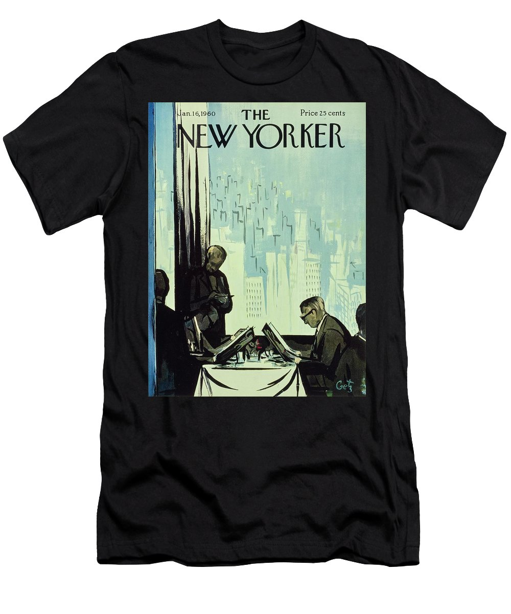 Illustration T-Shirt featuring the painting New Yorker January 16 1960 by Arthur Getz