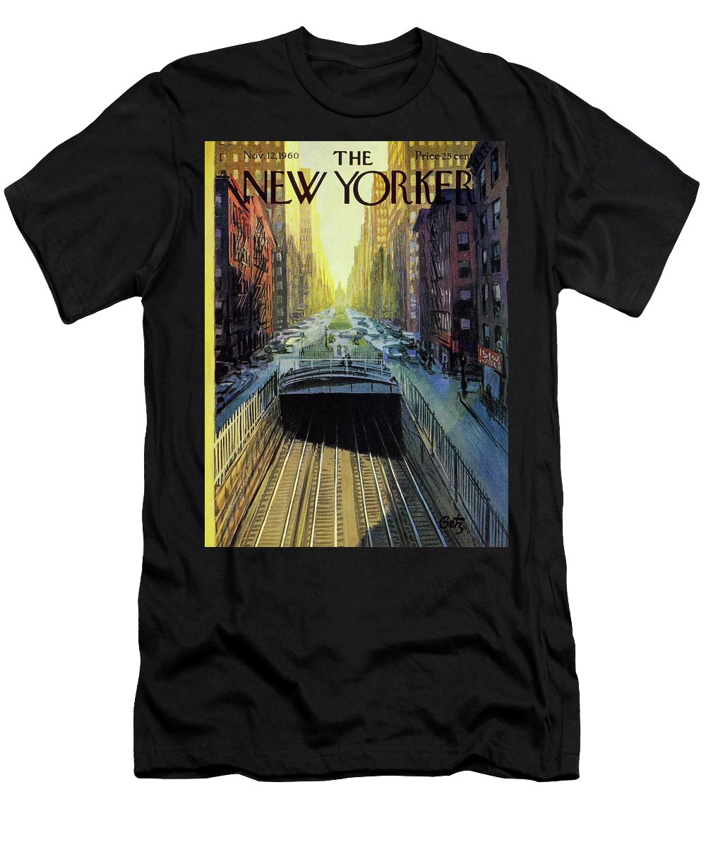 Illustration T-Shirt featuring the painting New Yorker November 12 1960 by Arthur Getz