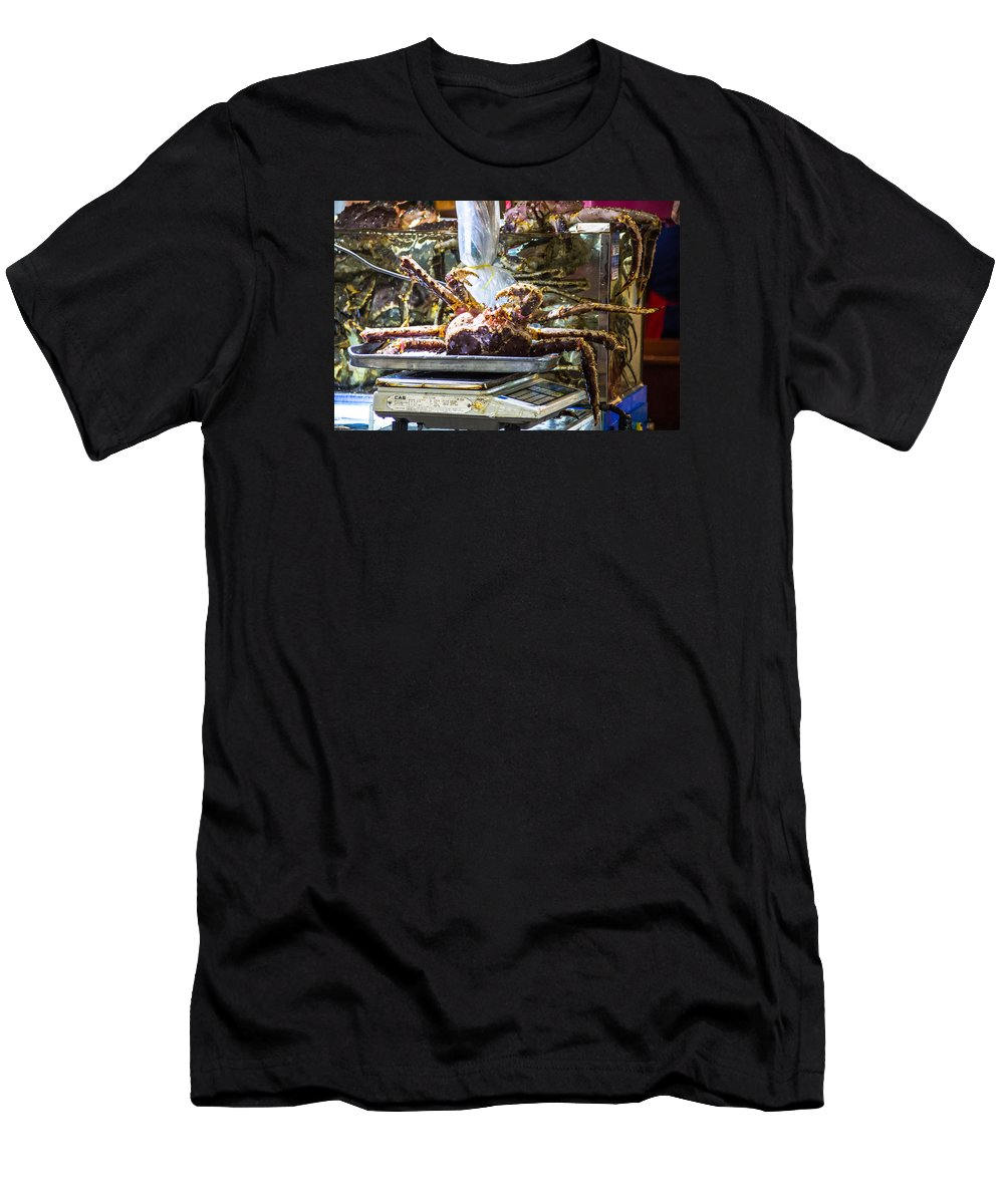 Animals Men's T-Shirt (Athletic Fit) featuring the photograph Next In The Row... by Peteris Vaivars